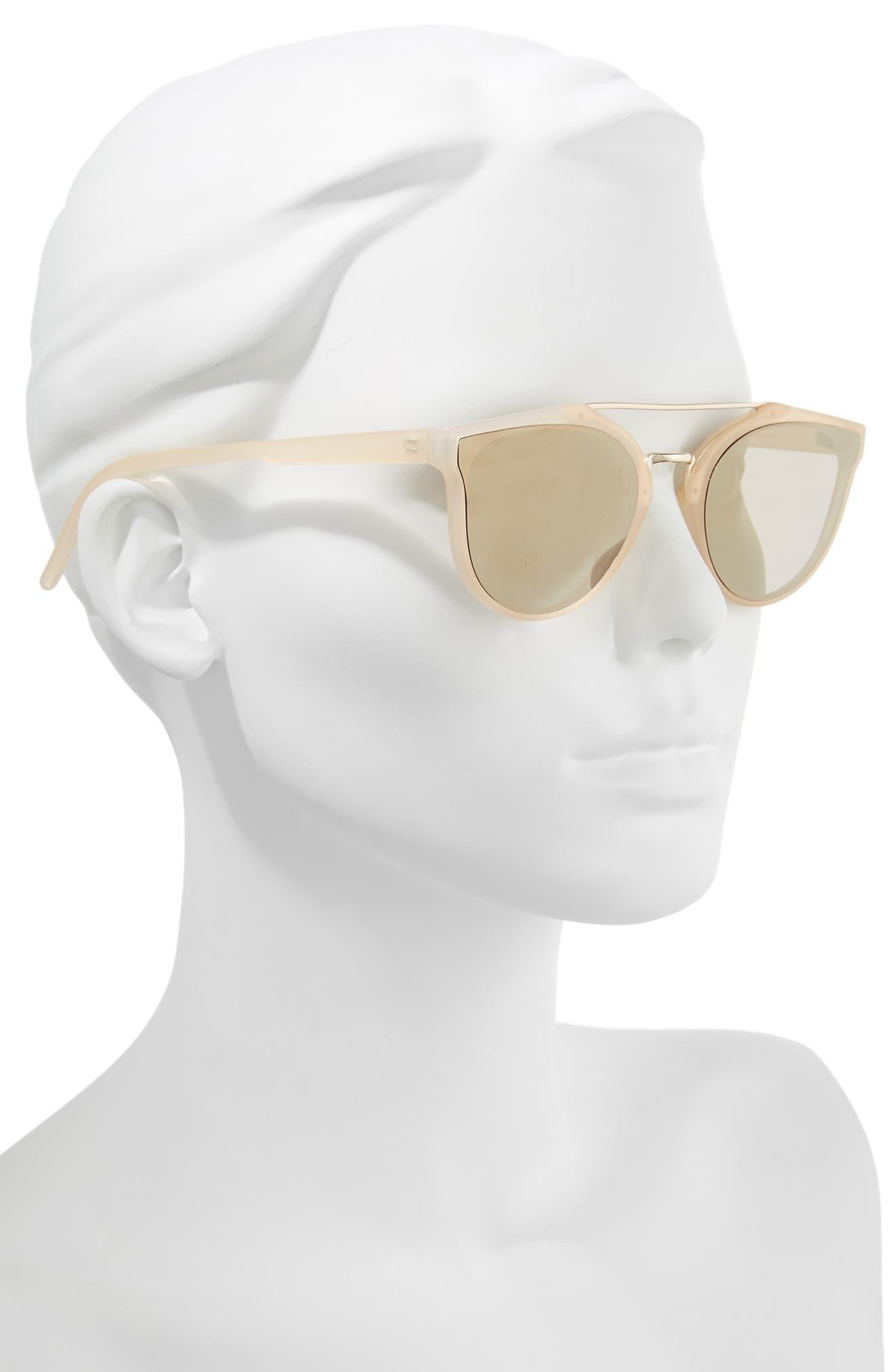 Aviator Sunglasses,                             Alternate thumbnail 2, color,                             Milky Peach/ Gold