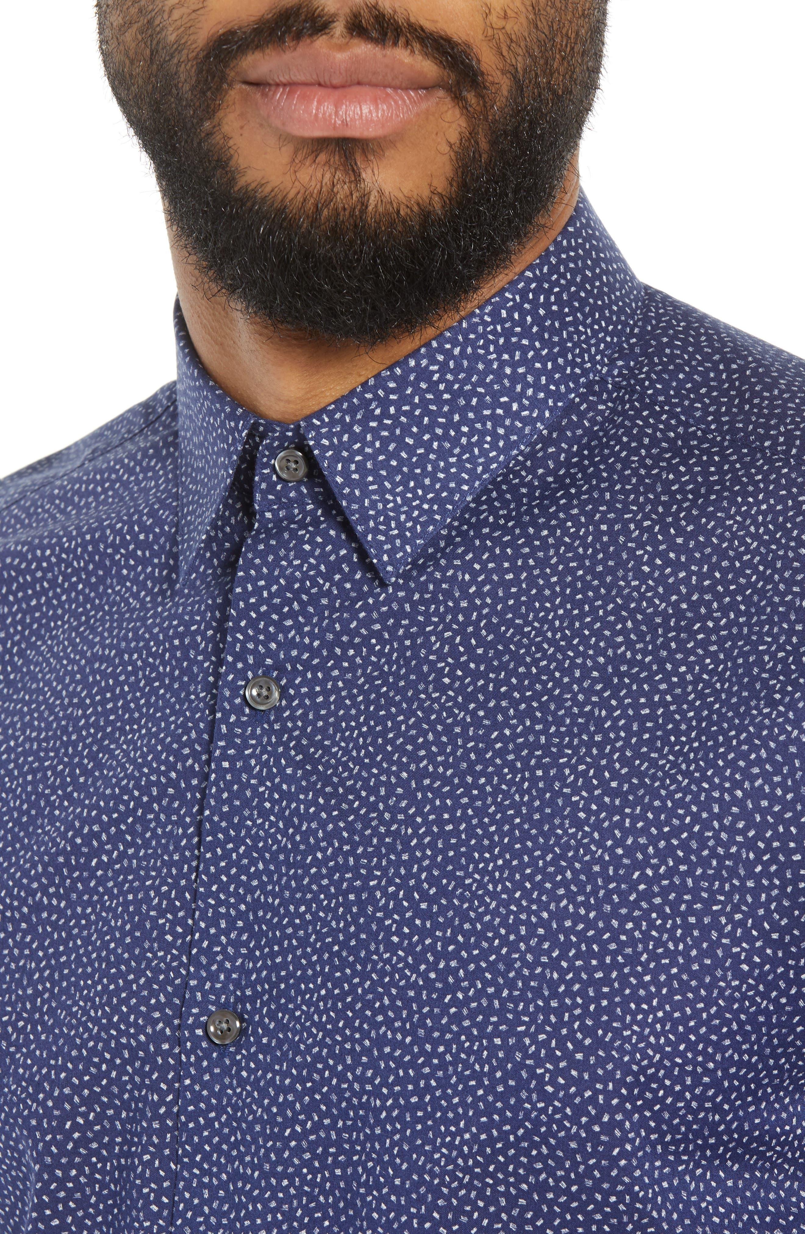 Murrary Trim Fit Print Sport Shirt,                             Alternate thumbnail 2, color,                             Eclipse