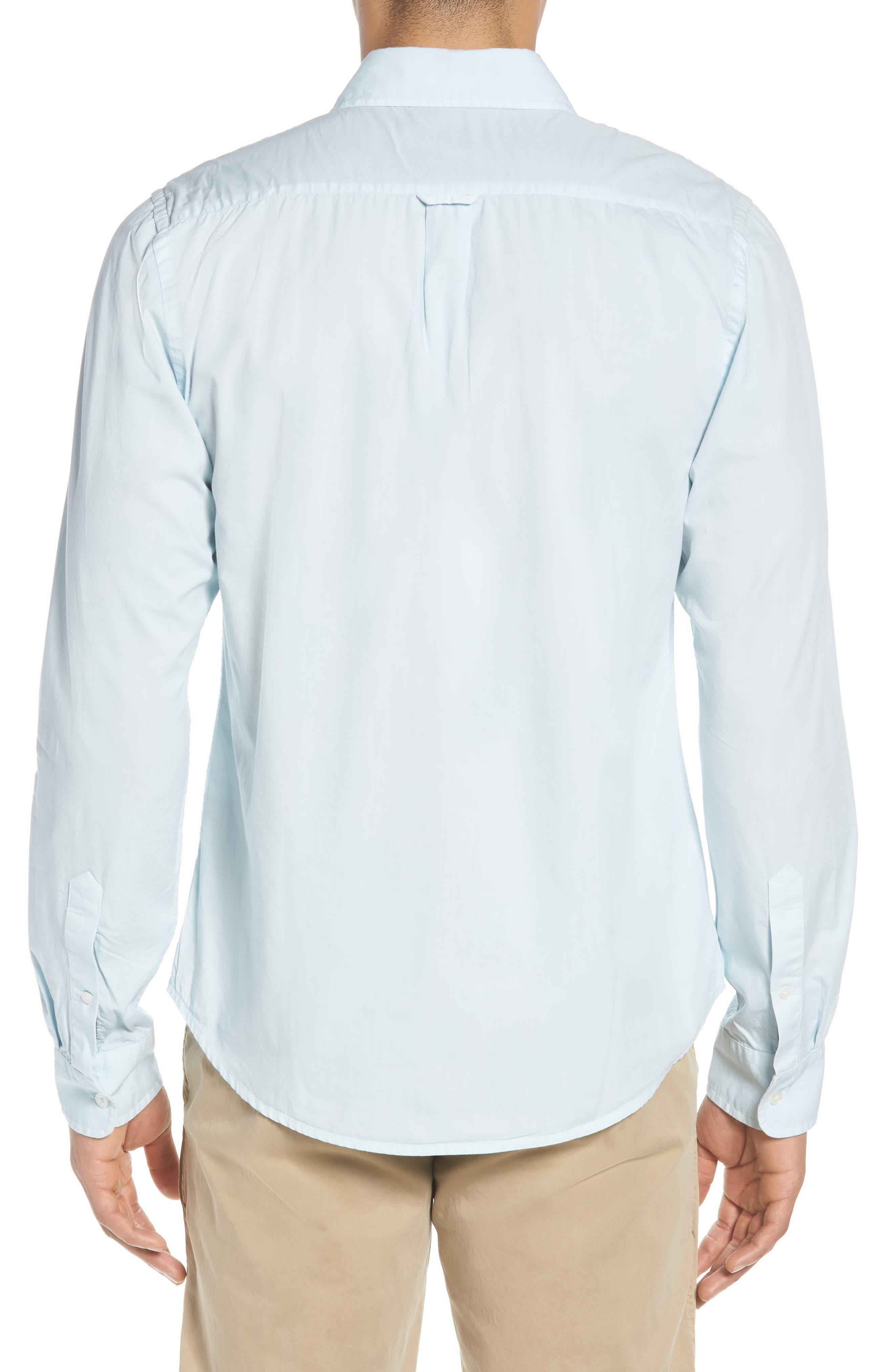 'Naples' Woven Shirt,                             Alternate thumbnail 3, color,                             Waterfall