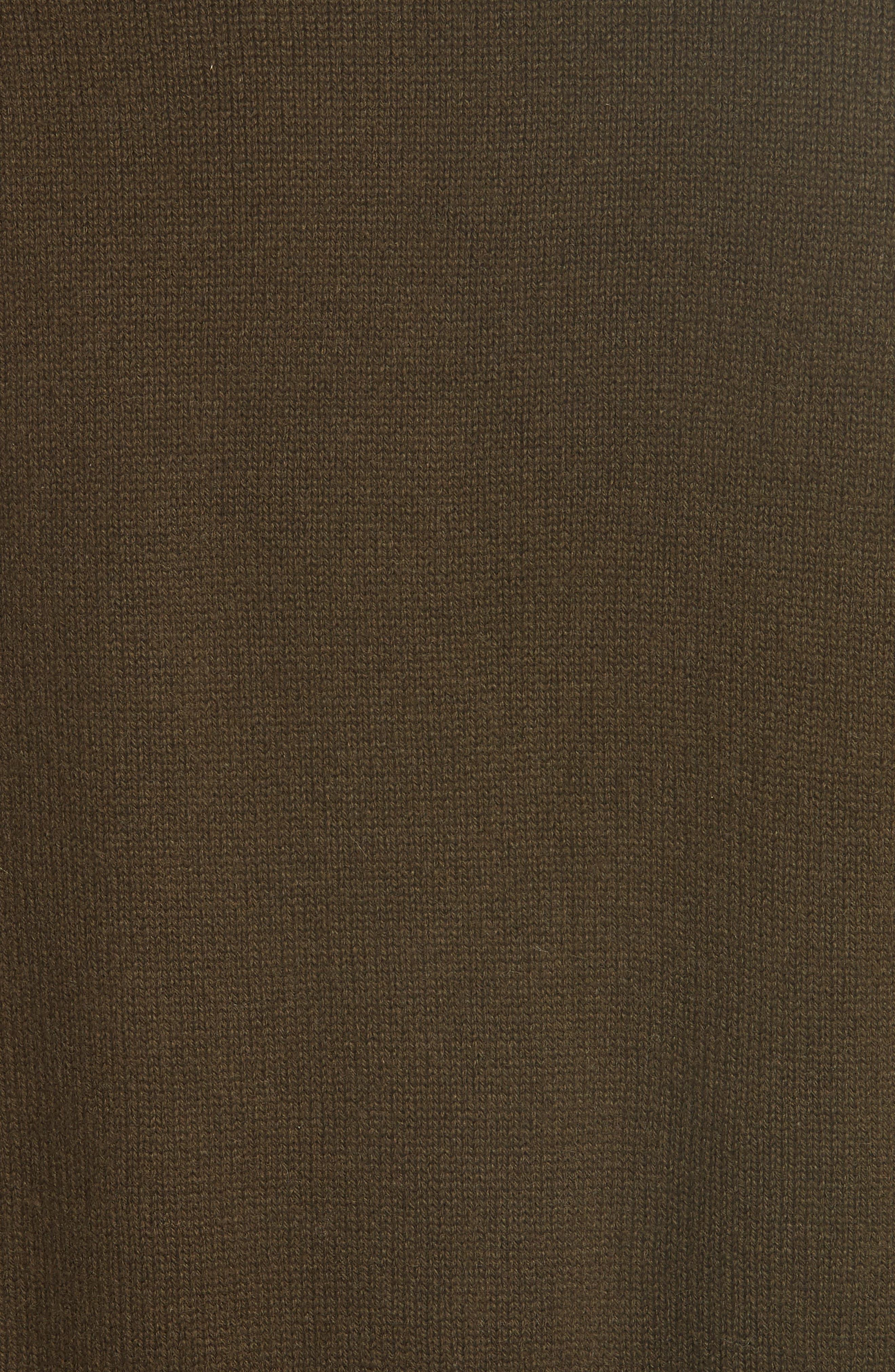 Cashmere Wrap Cardigan,                             Alternate thumbnail 5, color,                             Peat