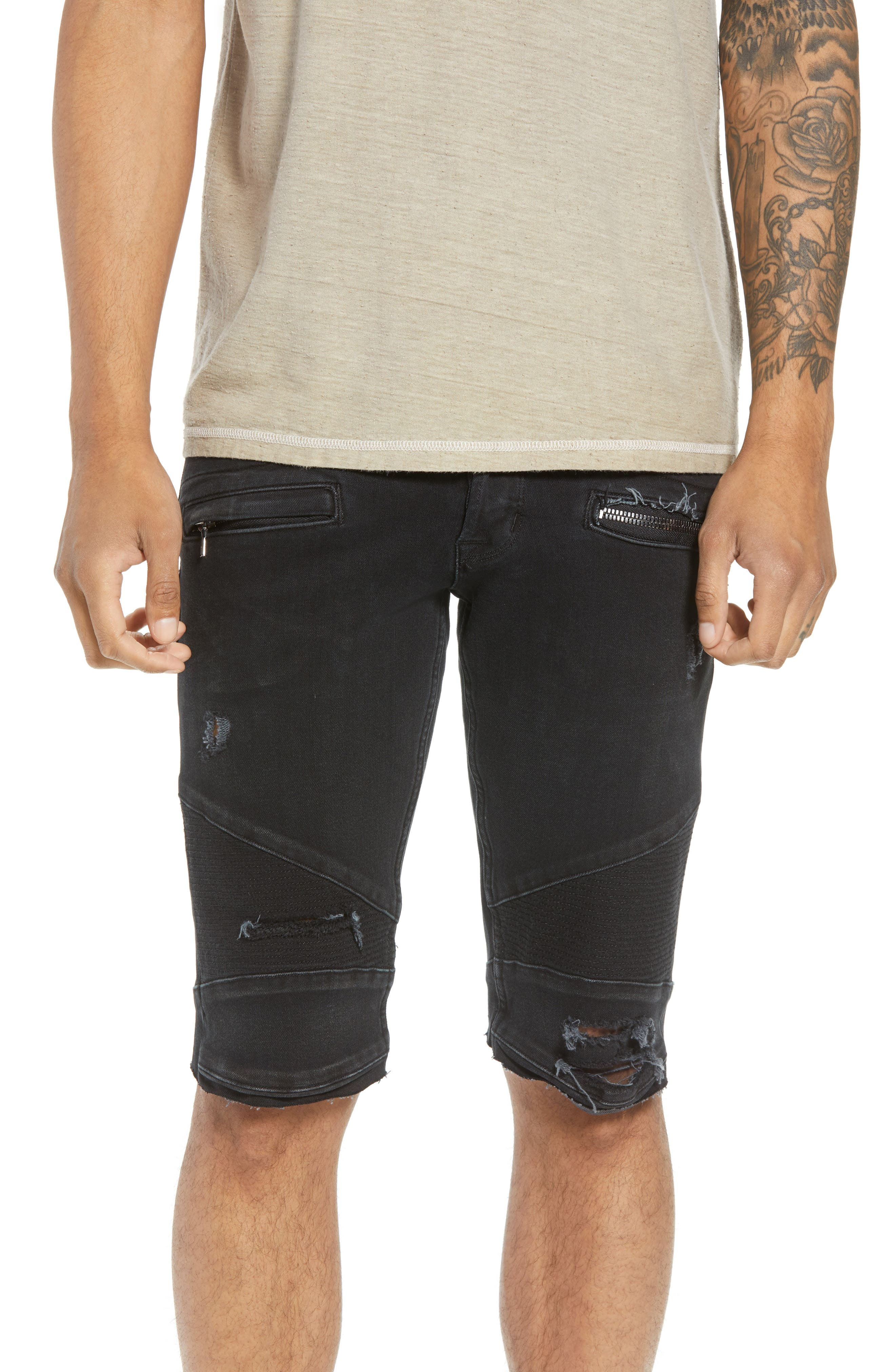 Blinder Biker Cutoff Shorts,                         Main,                         color, Fade Away