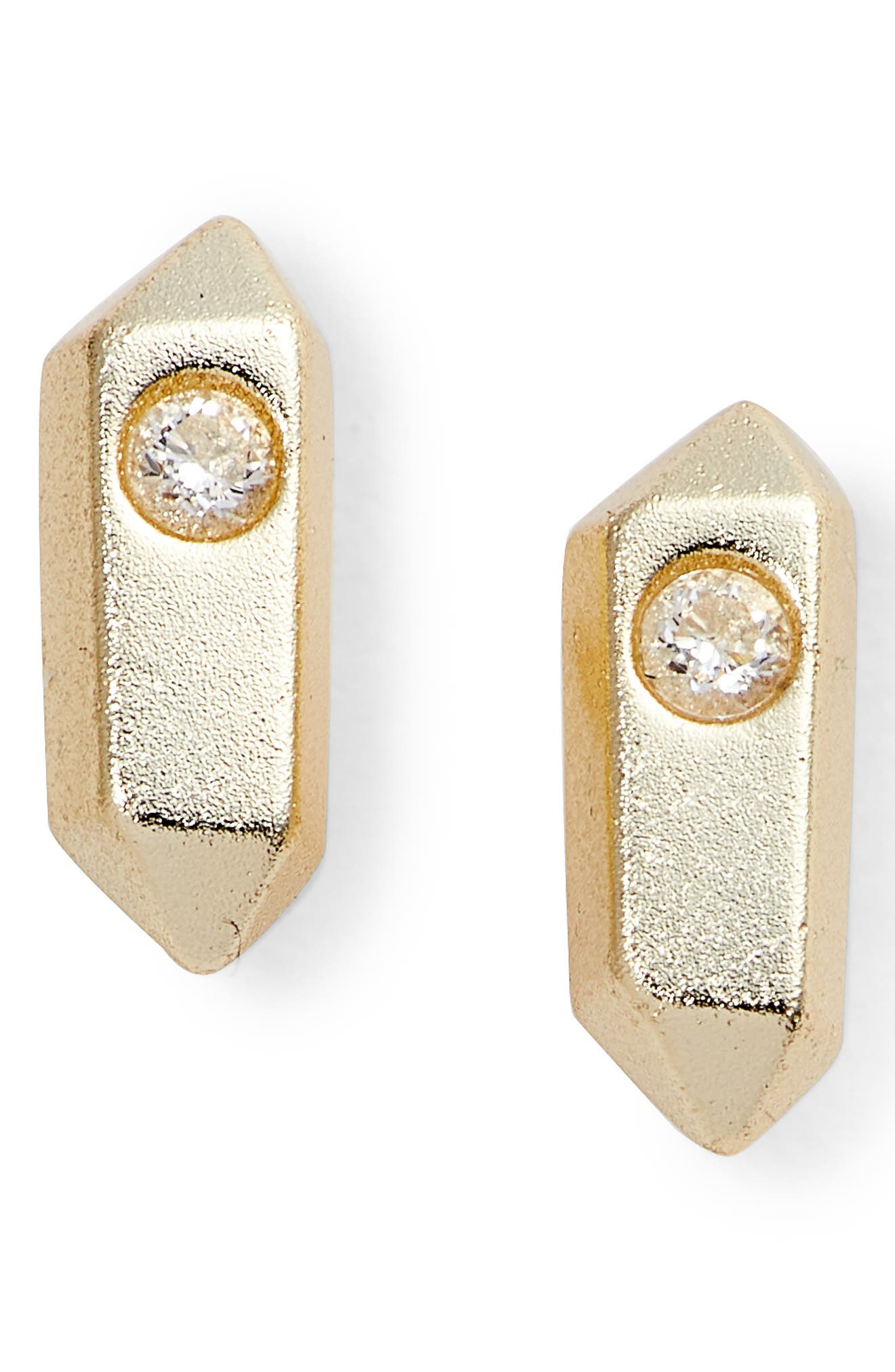 Rooney Stud Earrings,                         Main,                         color, Gold
