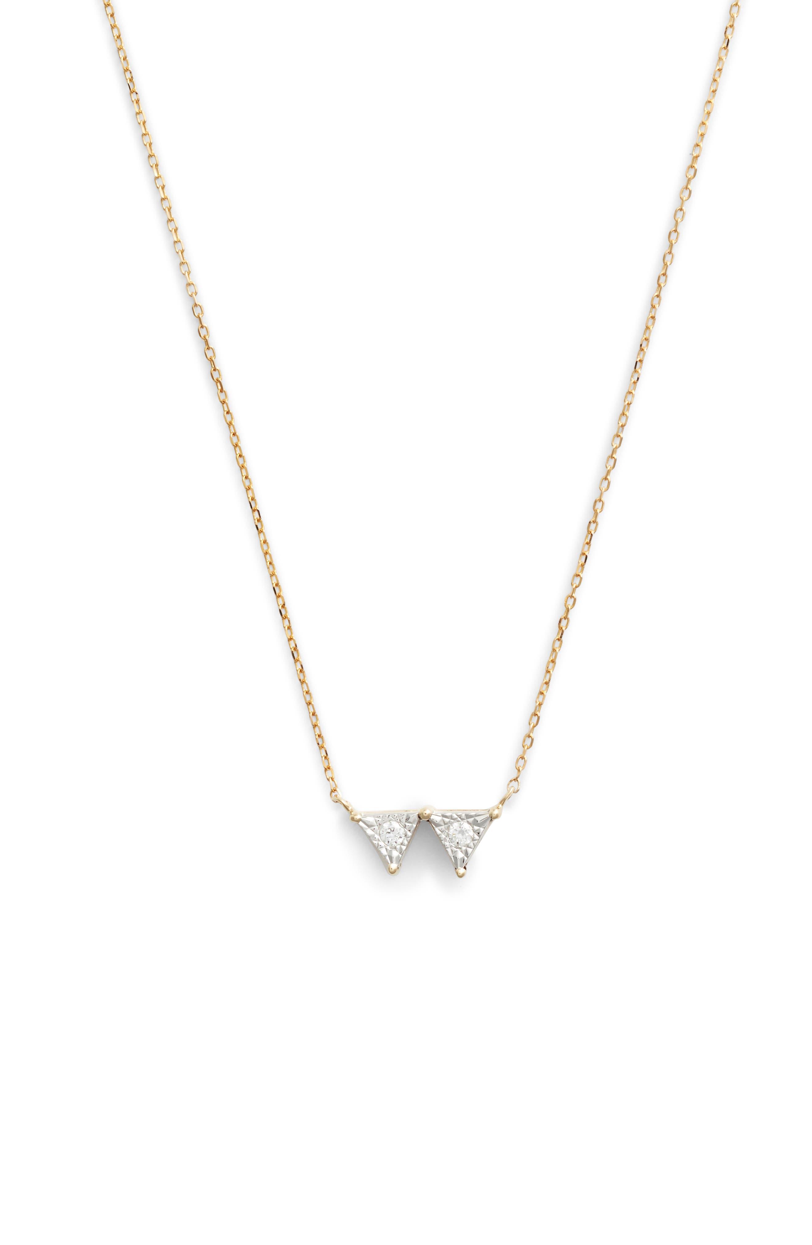 Dana Rebecca Designs Emily Sarah Double Triangle Diamond Necklace