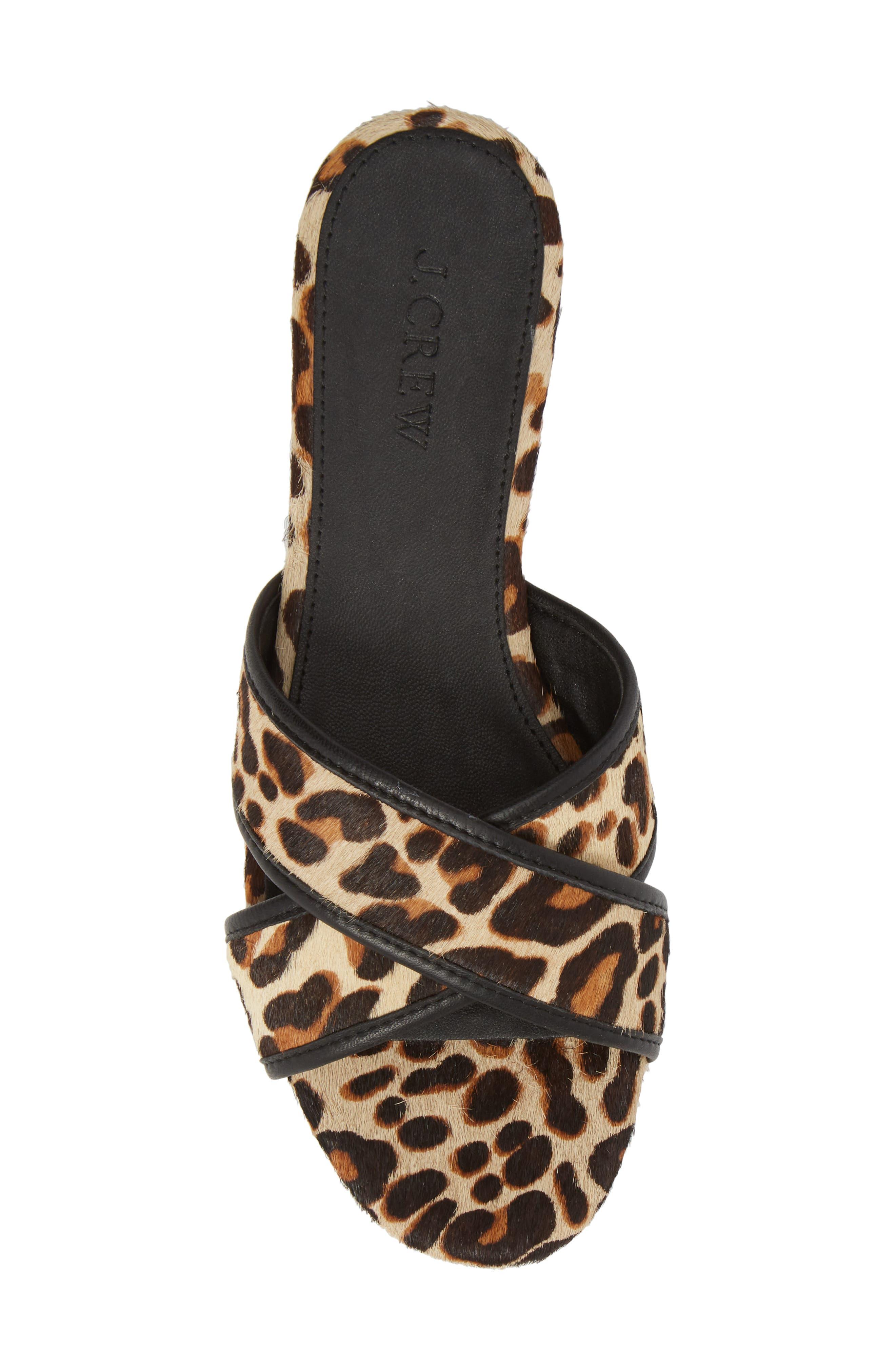 Cora Genuine Calf Hair Slide Sandal,                             Alternate thumbnail 6, color,                             Chocolate Sepia