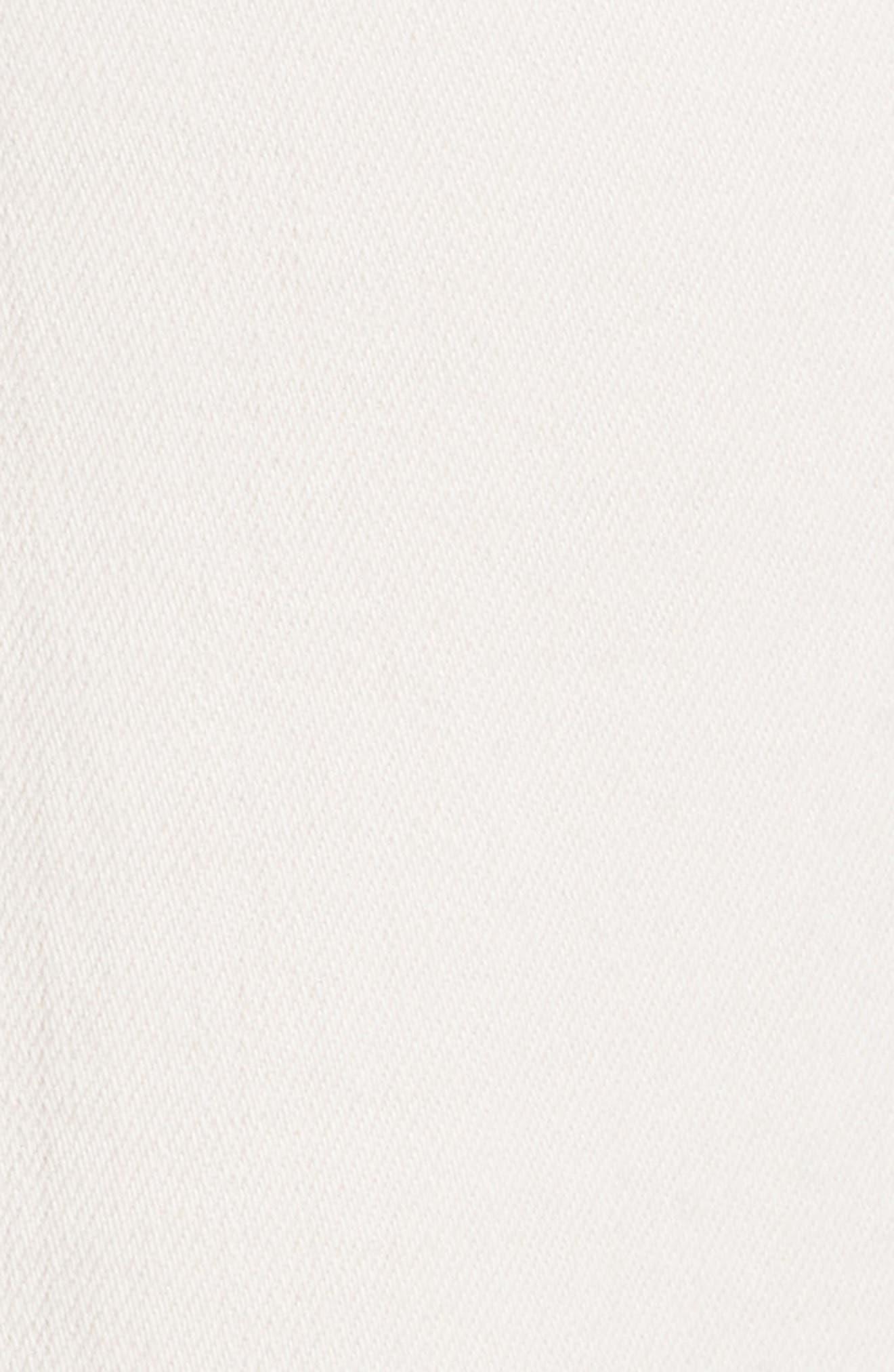 Audrina Ripped Straight Leg Crop Jeans,                             Alternate thumbnail 5, color,                             Quartz Worn Destruct