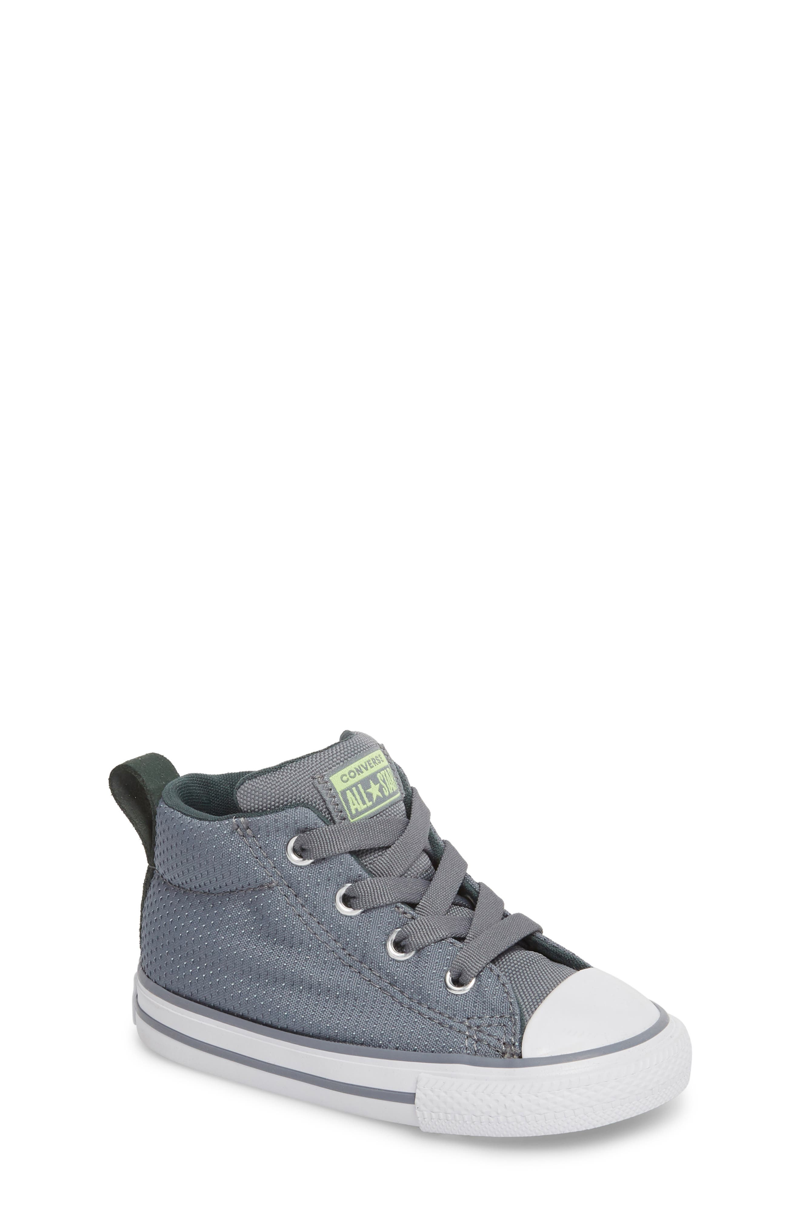 Chuck Taylor<sup>®</sup> All Star<sup>®</sup> Street Mid Top Sneaker,                         Main,                         color, Pale Grey
