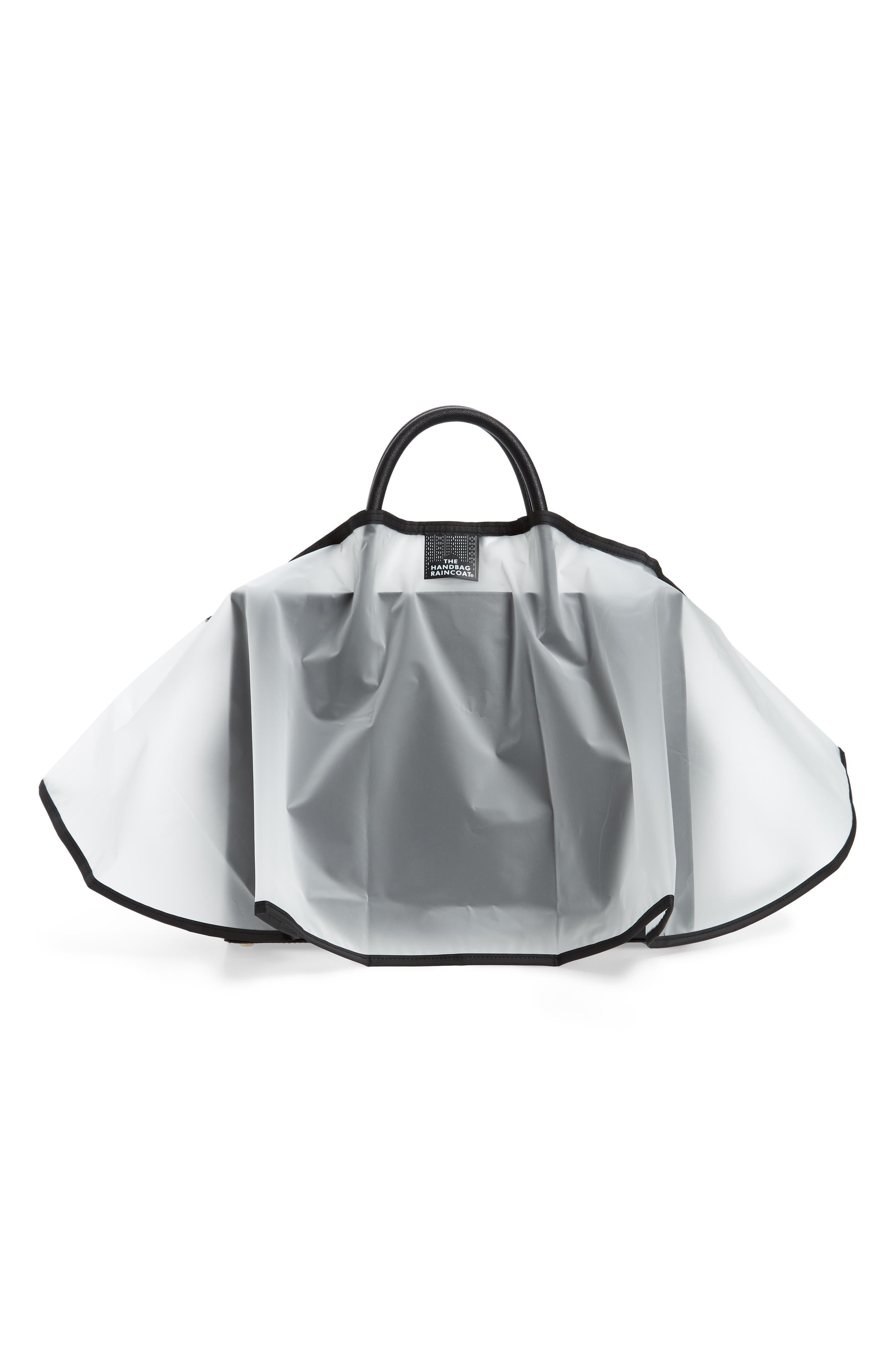 Midi Clear Handbag Protector,                             Alternate thumbnail 2, color,                             Clear/ Black
