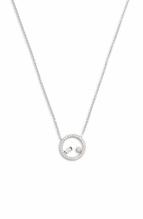 Gold circle pendant necklace dana rebecca lauren joy floating diamond circle pendant necklace aloadofball Image collections