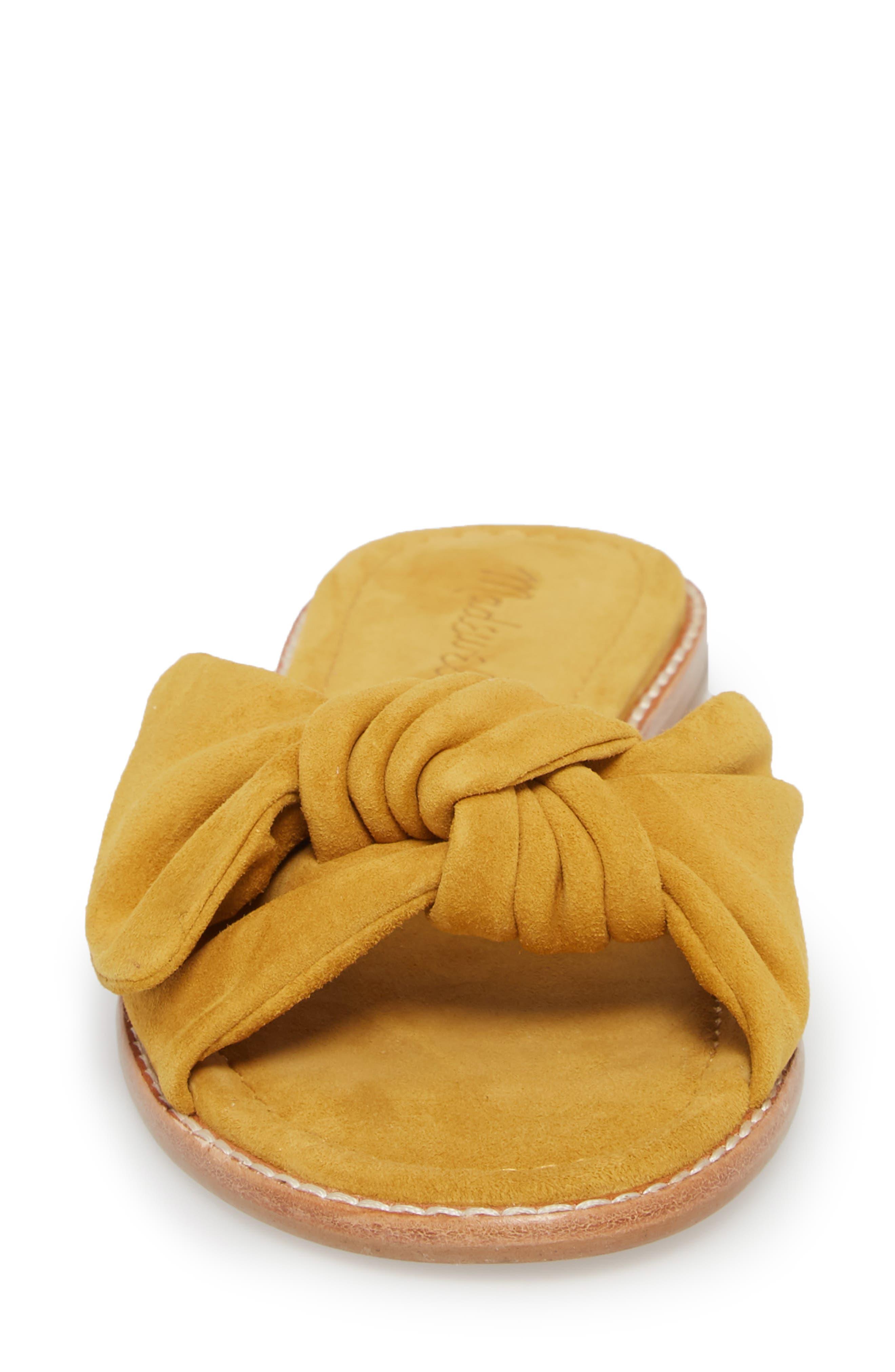 Naida Slide Sandal,                             Alternate thumbnail 4, color,                             Cider Leather