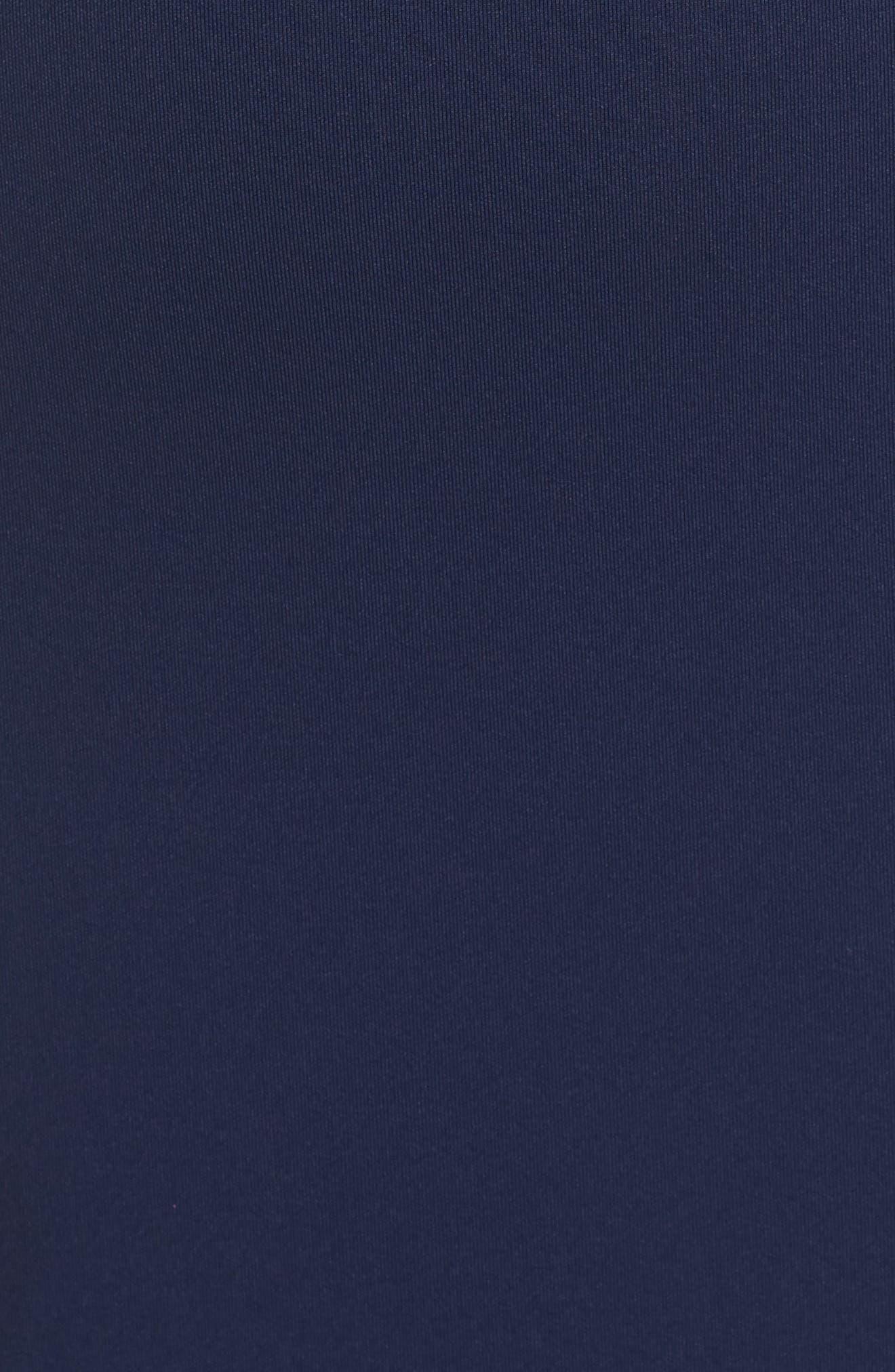 Lace Trim Sheath Dress,                             Alternate thumbnail 5, color,                             Midnight/ Black