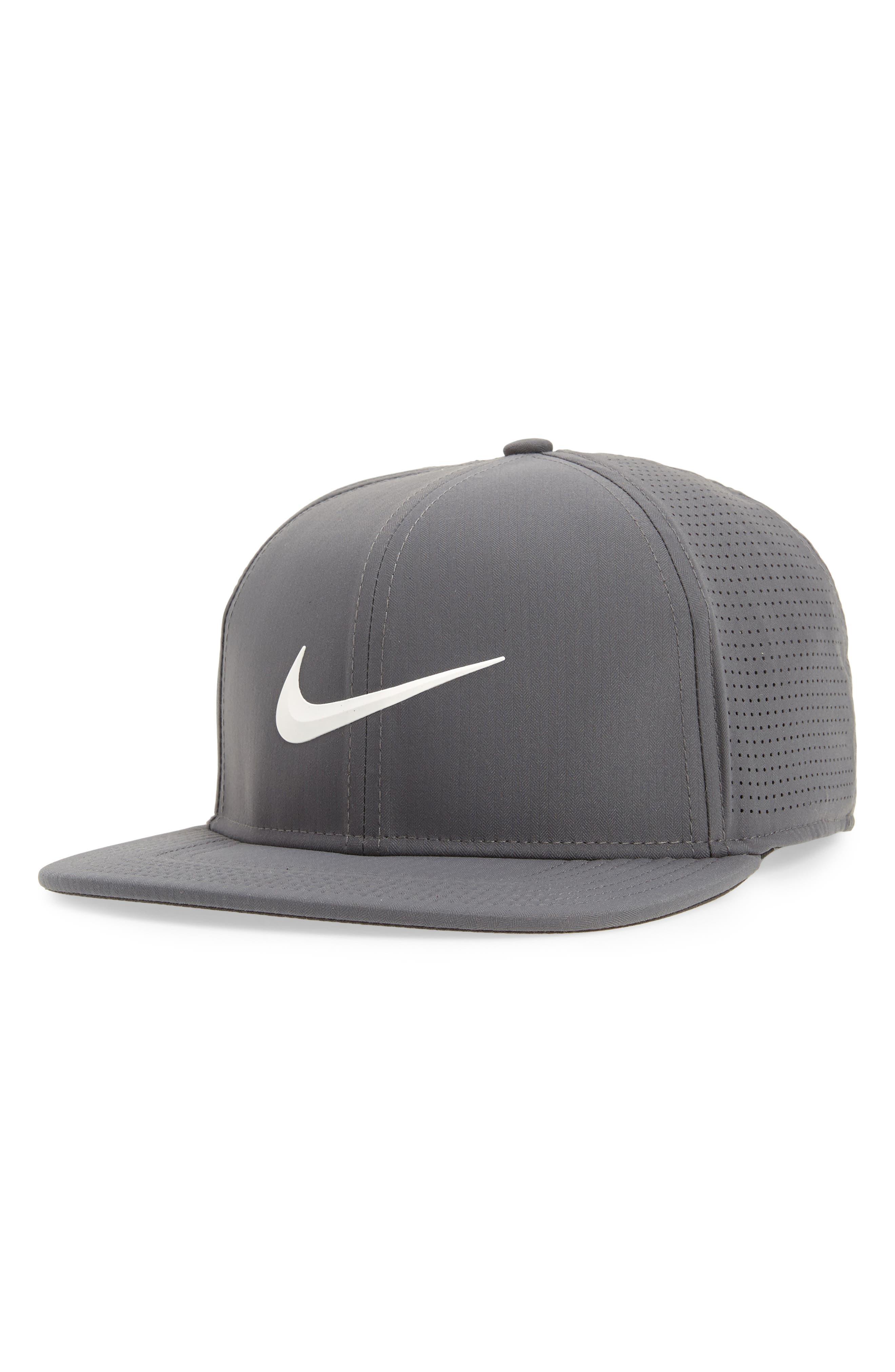 AeroBill Dry Golf Hat,                         Main,                         color, Dark Grey/ Anthracite/ White