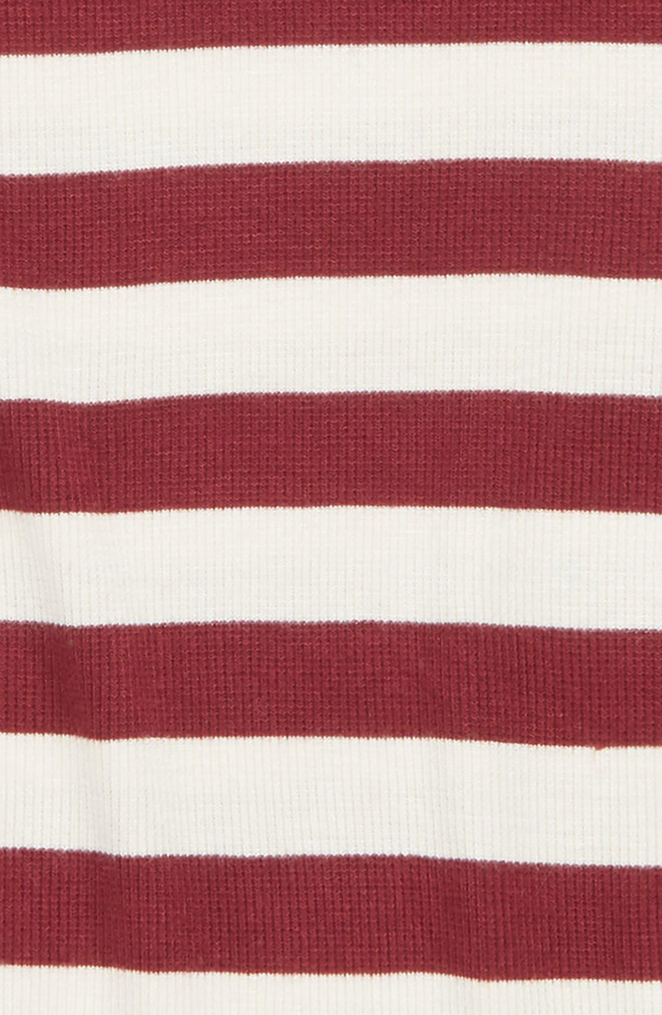 Stripe Knit Tee,                             Alternate thumbnail 2, color,                             Red Cordovan- Ivory Stripe