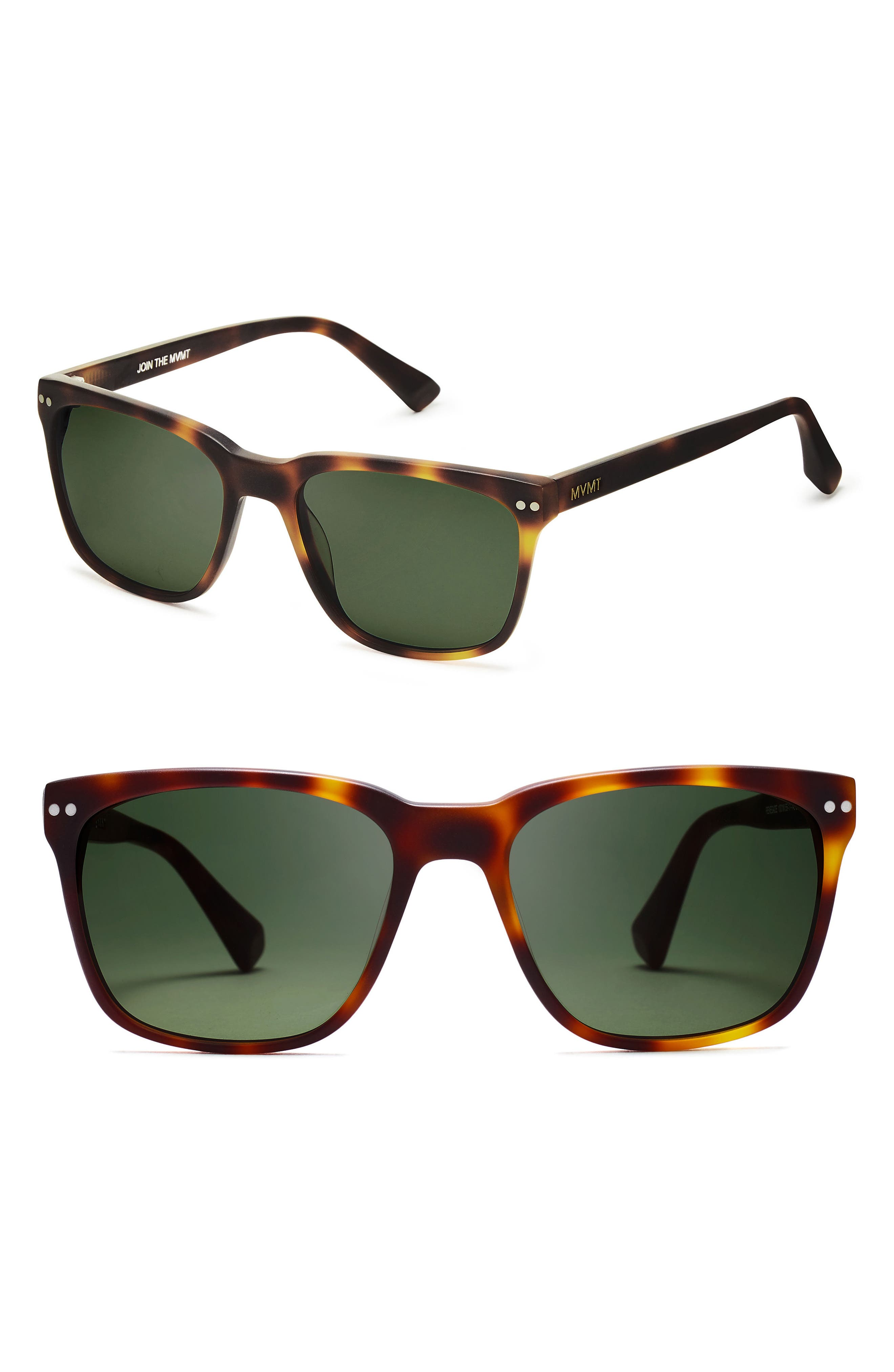 Renegade 55mm Sunglasses,                         Main,                         color, Whiskey Tortoise