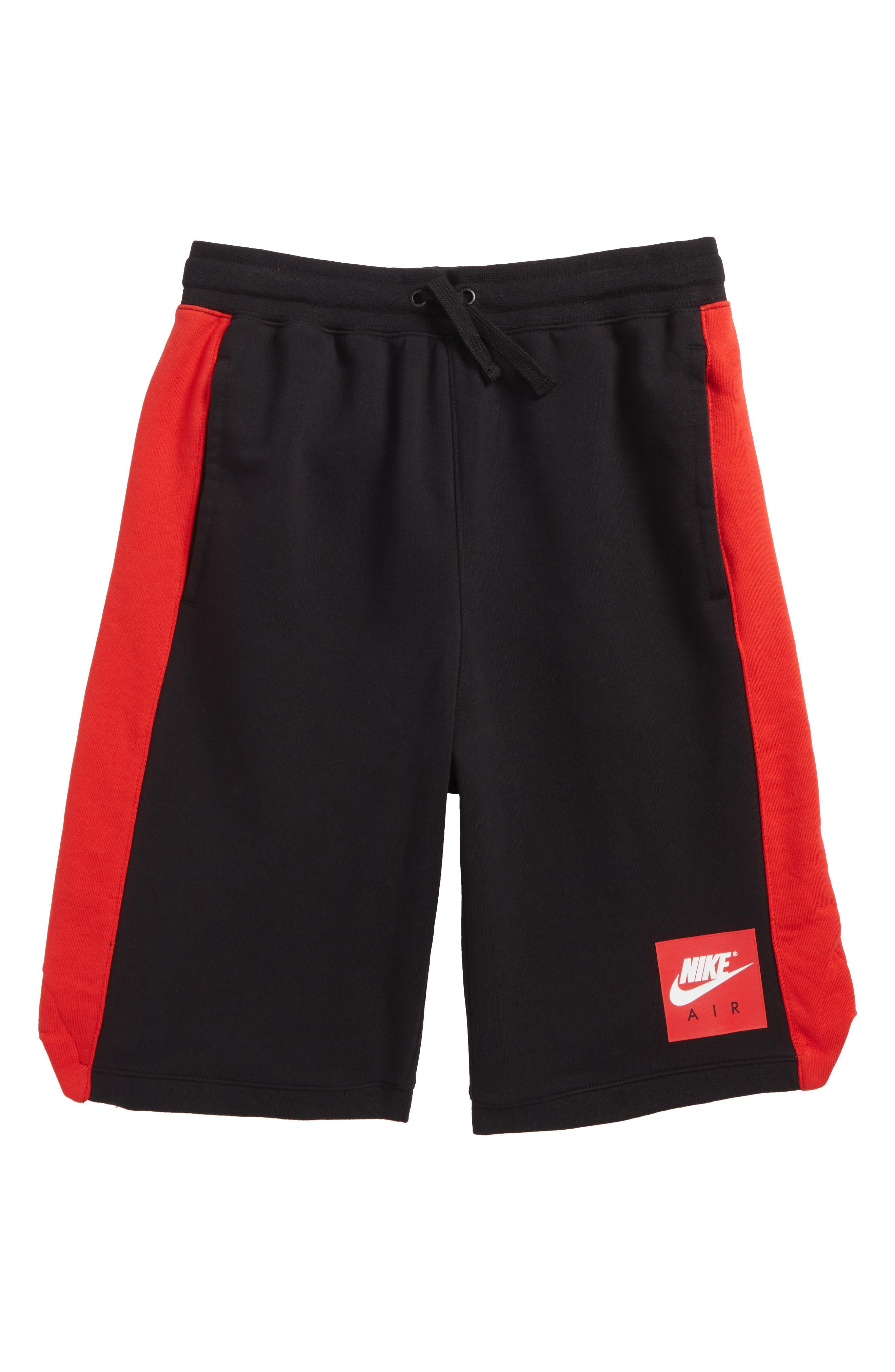 Air Shorts,                             Main thumbnail 1, color,                             Black/ University Red