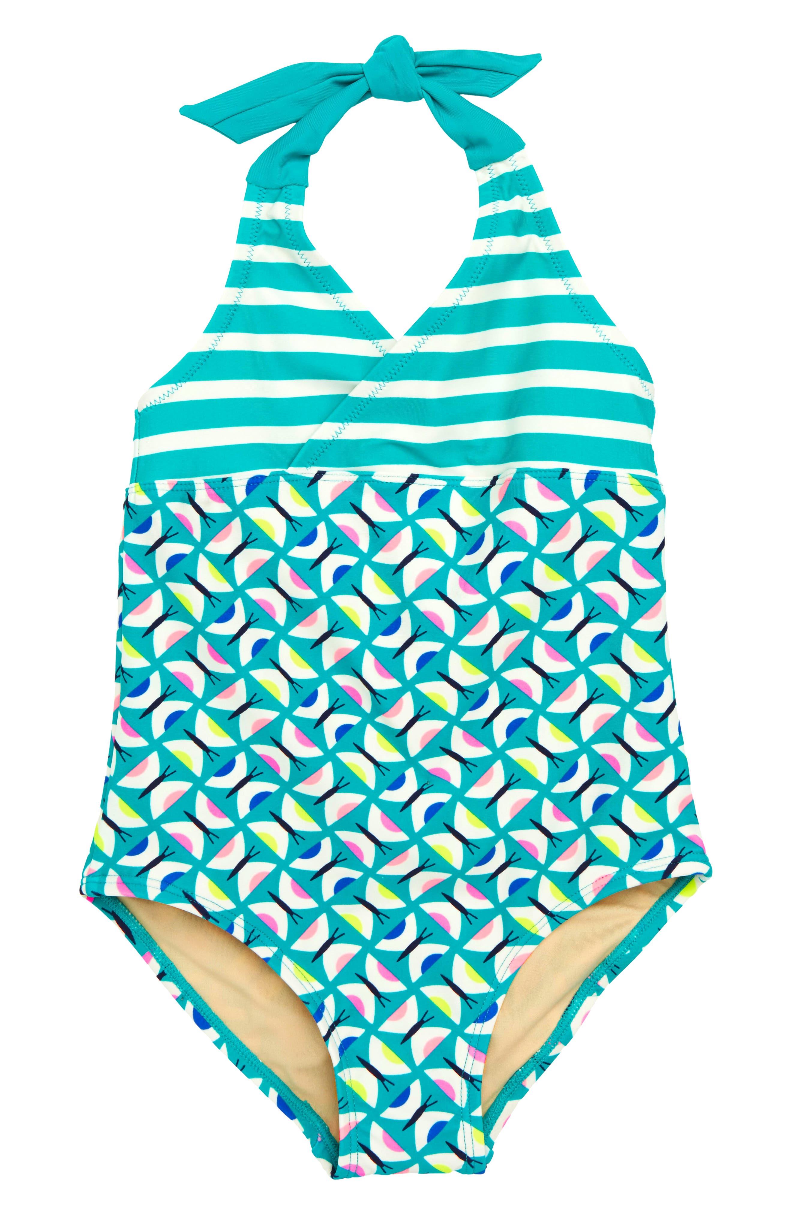 Tea Collection Halter One-Piece Swimsuit (Toddler Girls, Little Girls & Big Girls)