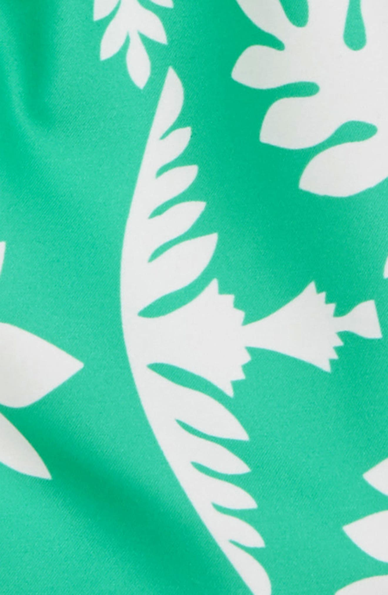 Print Swim Trunks,                             Alternate thumbnail 2, color,                             Green Pop Hawaiian Quilt