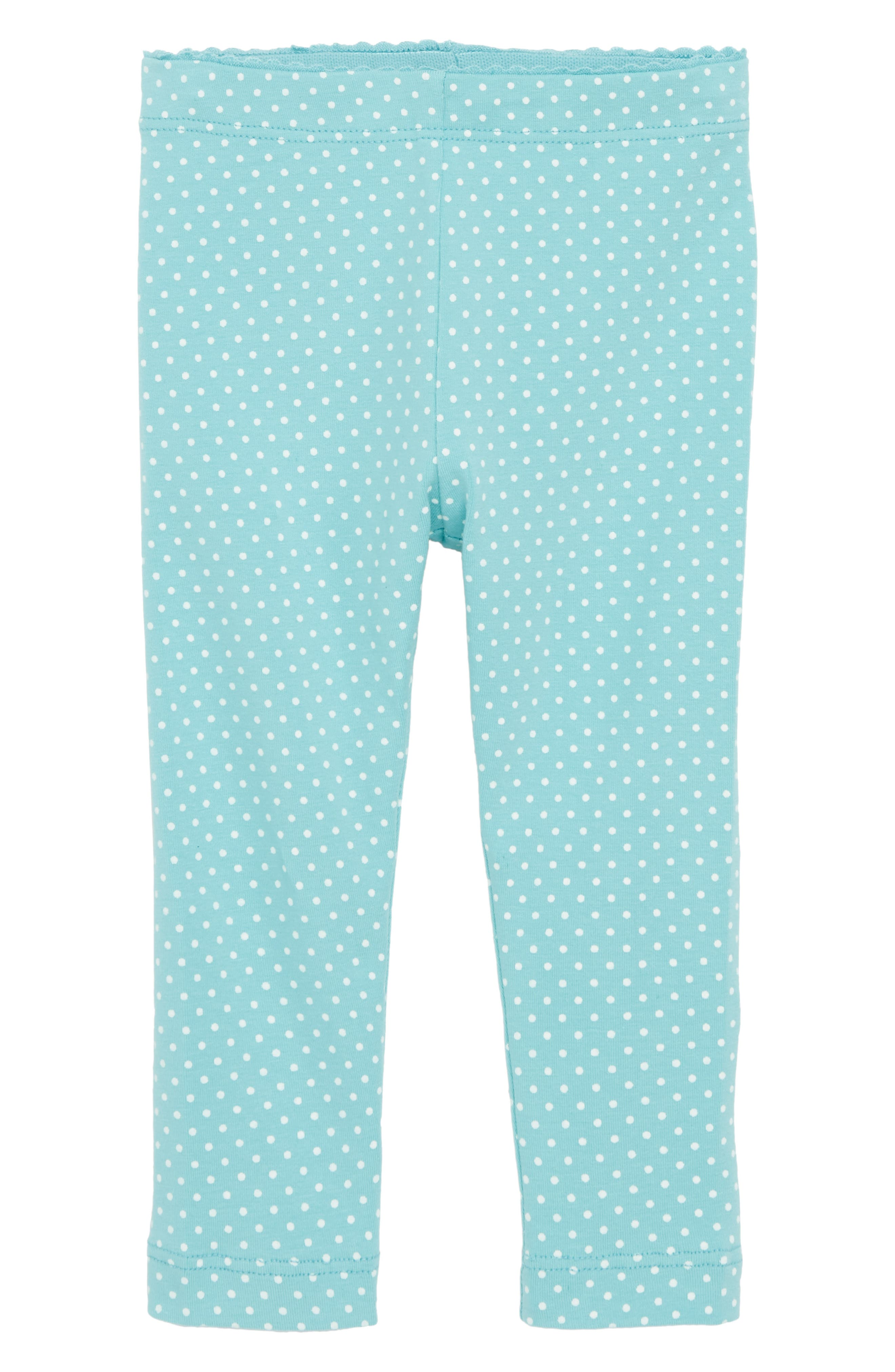 Pin Dot Leggings,                         Main,                         color, Ciel