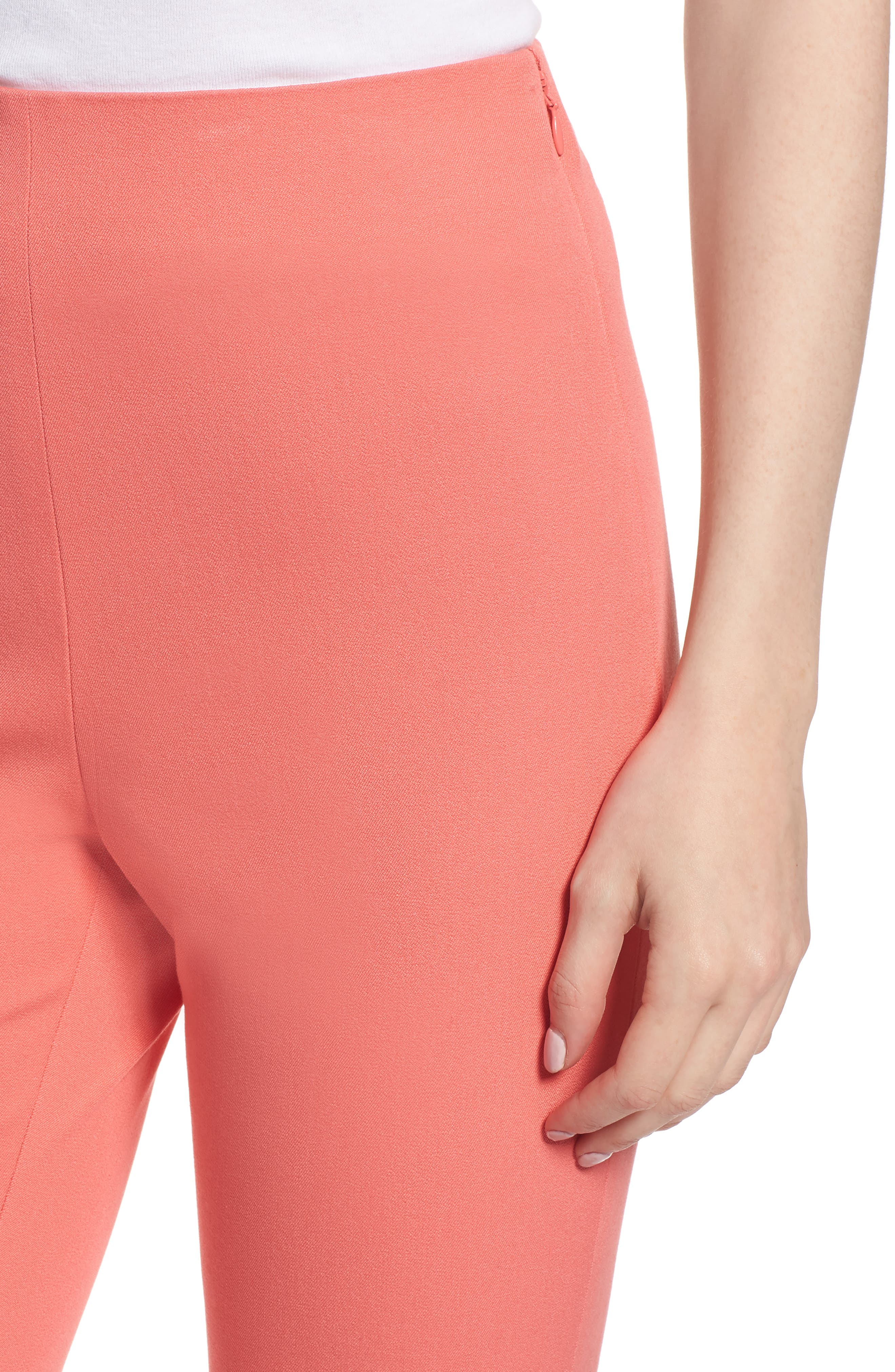 Skinny Stretch Pants,                             Alternate thumbnail 4, color,                             Coral Sugar