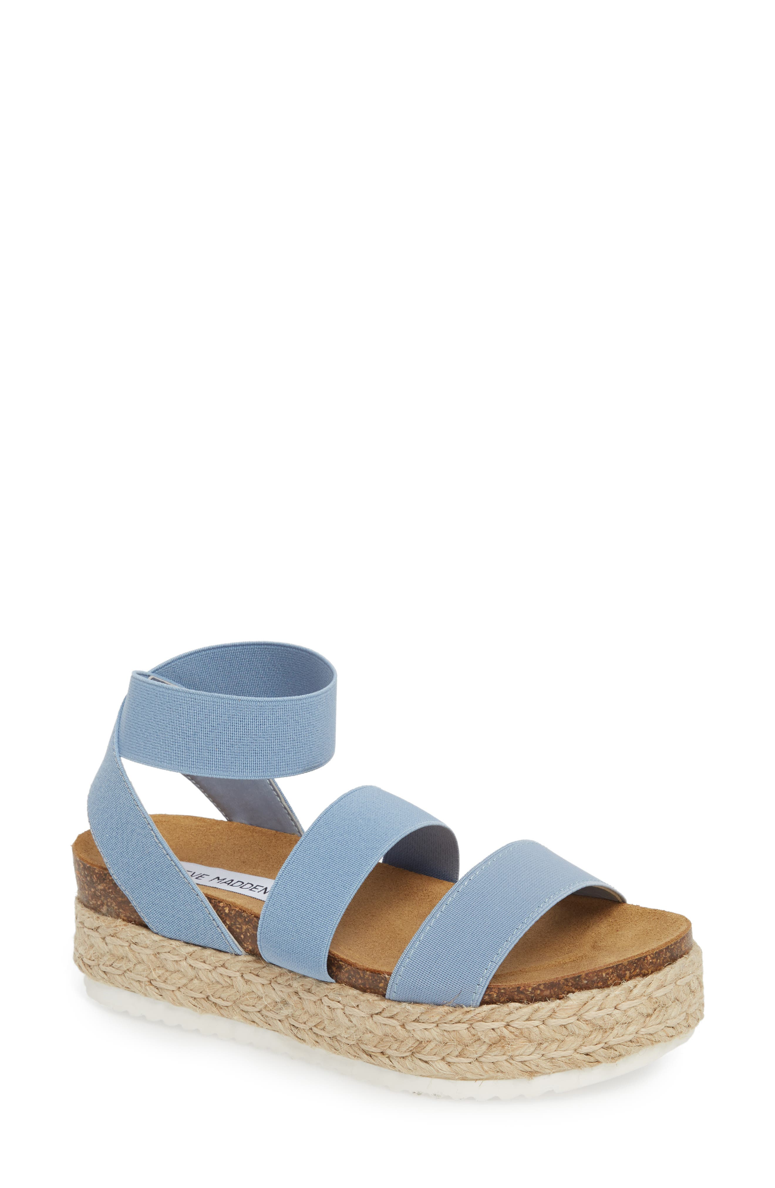 Kimmie Flatform Sandal,                         Main,                         color, Blue
