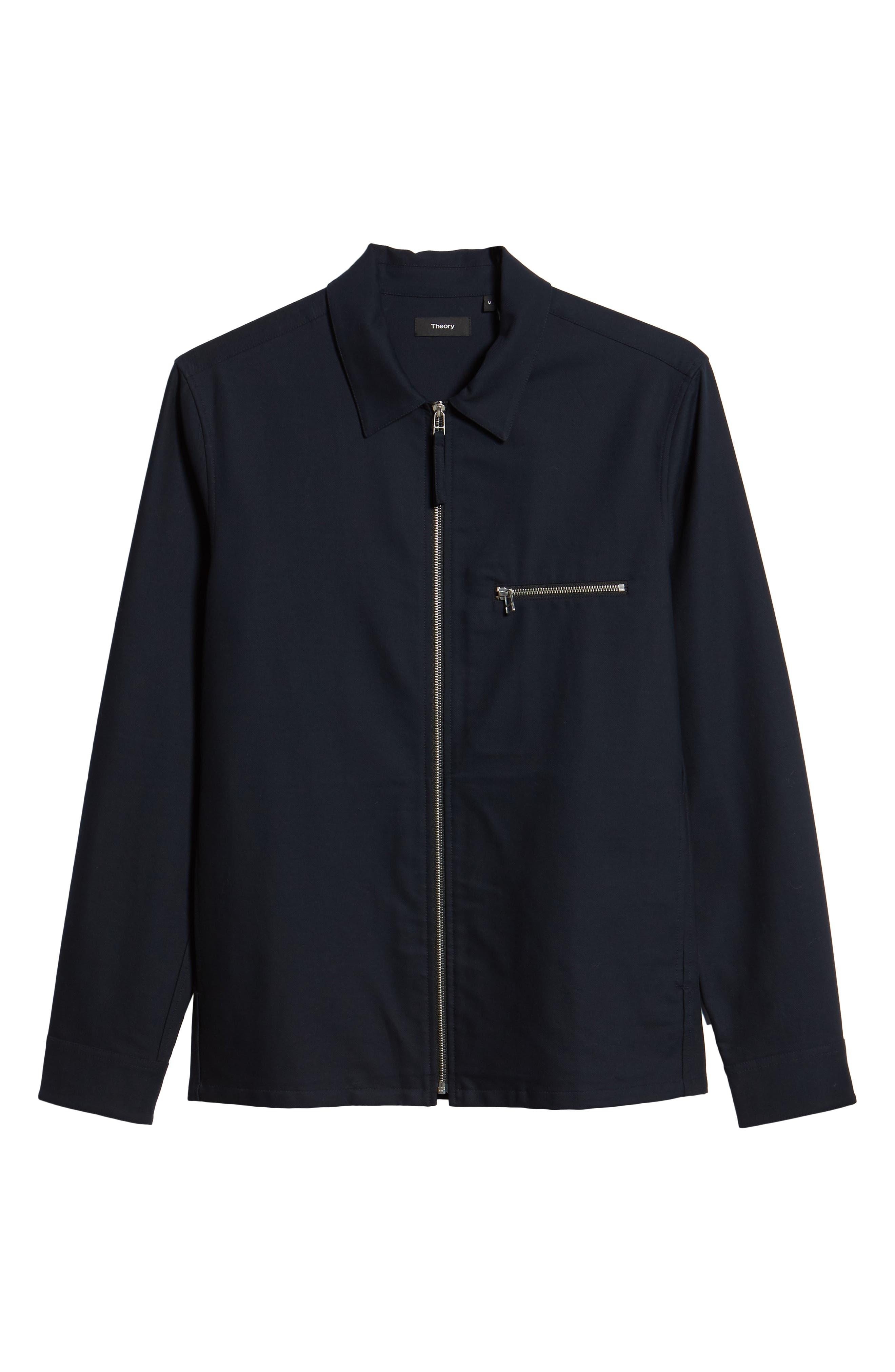 Rye Stretch Cotton Jacket,                             Alternate thumbnail 6, color,                             Eclipse
