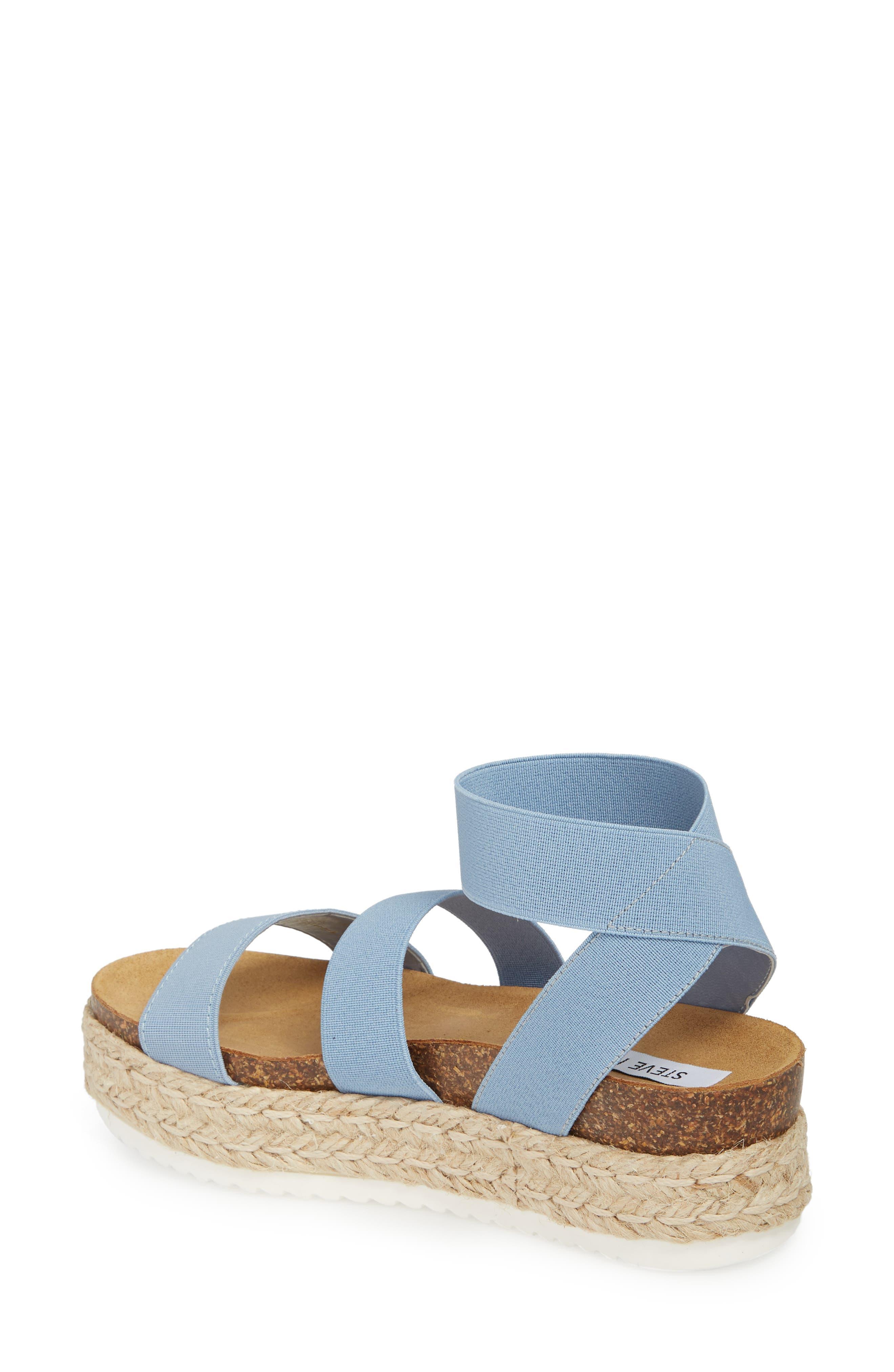 Kimmie Flatform Sandal,                             Alternate thumbnail 2, color,                             Blue