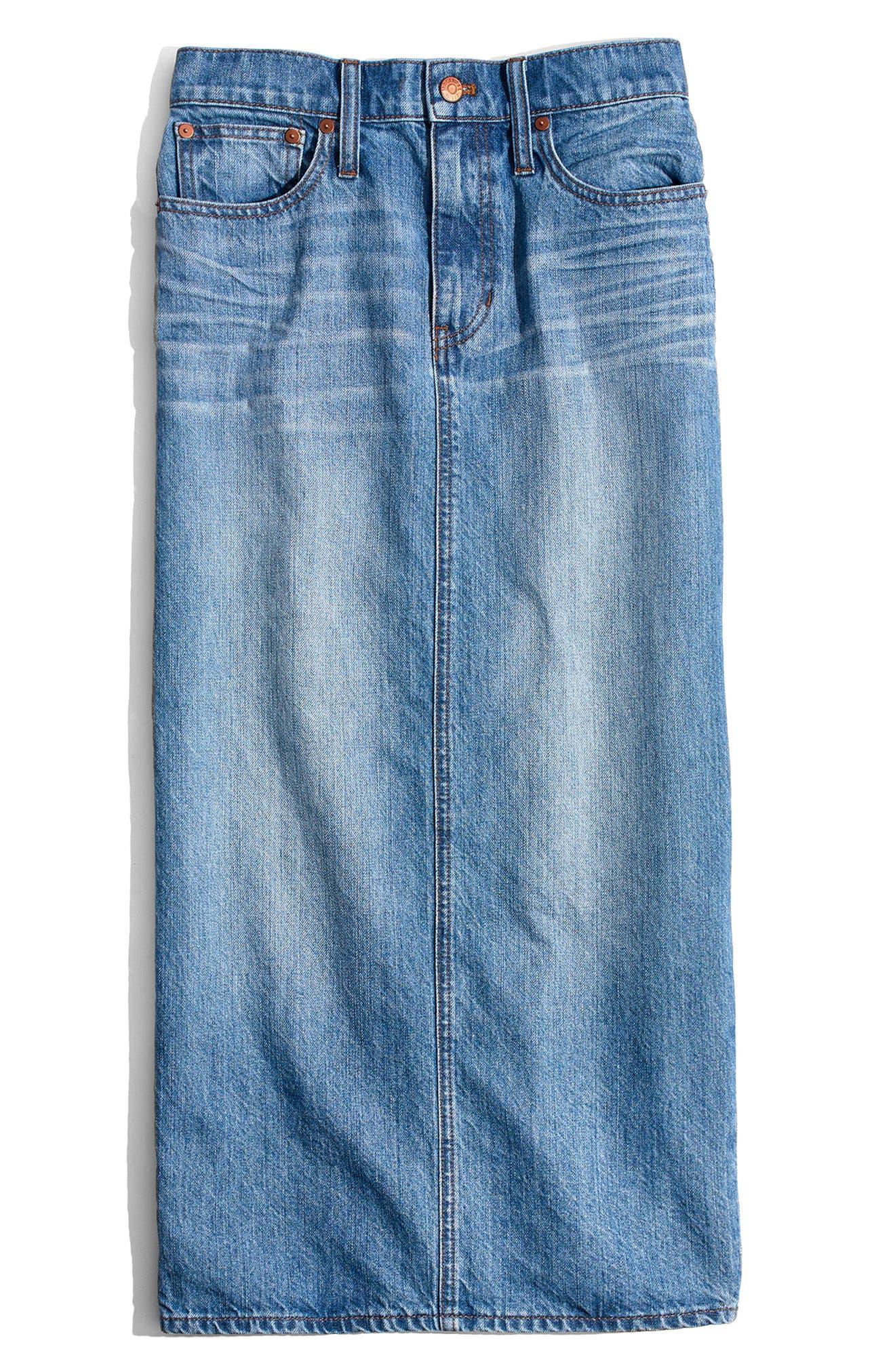 Madewell Denim Midi Skirt