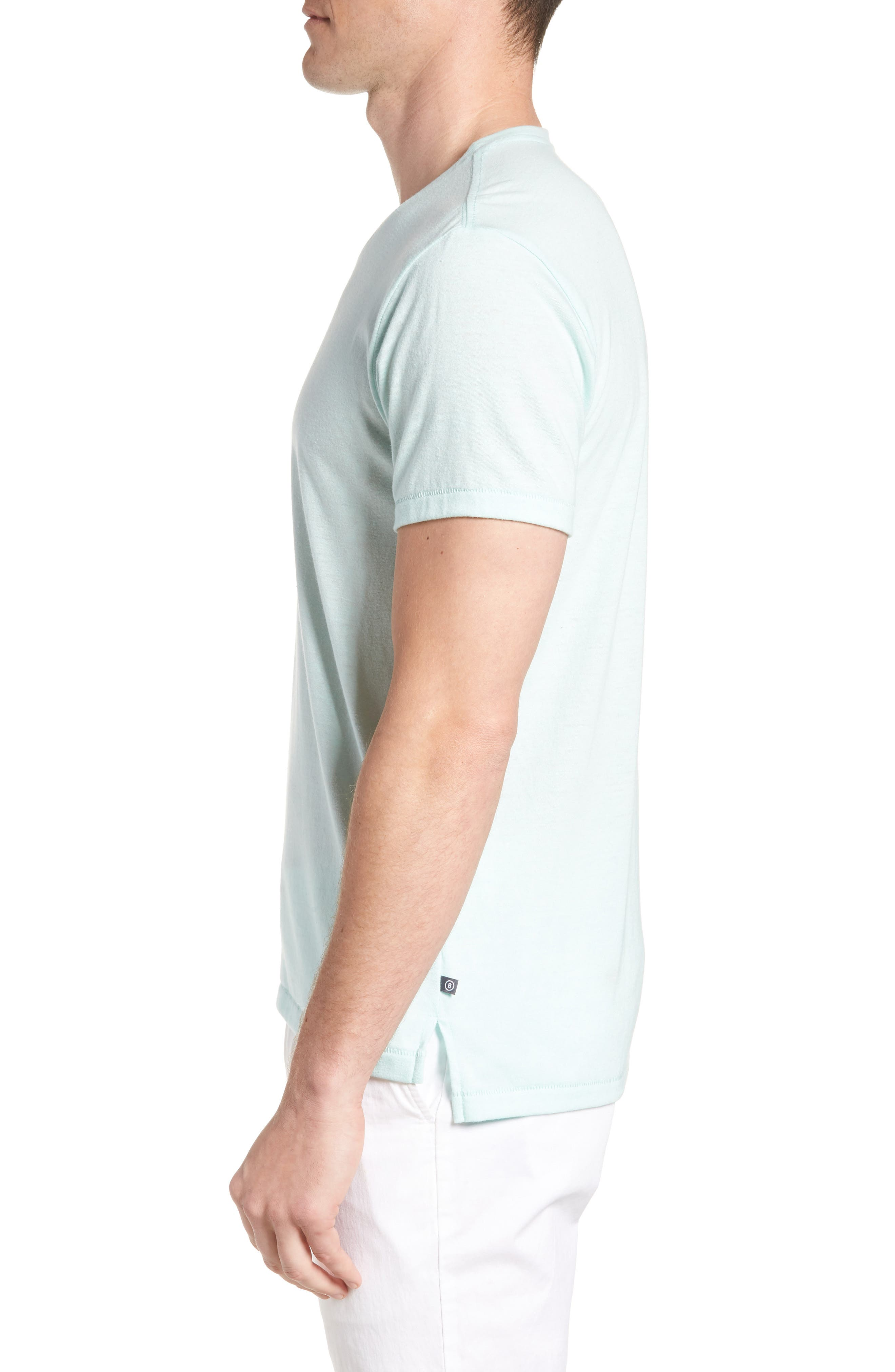LA Slim Fit Heathered T-Shirt,                             Alternate thumbnail 3, color,                             Heather Mint