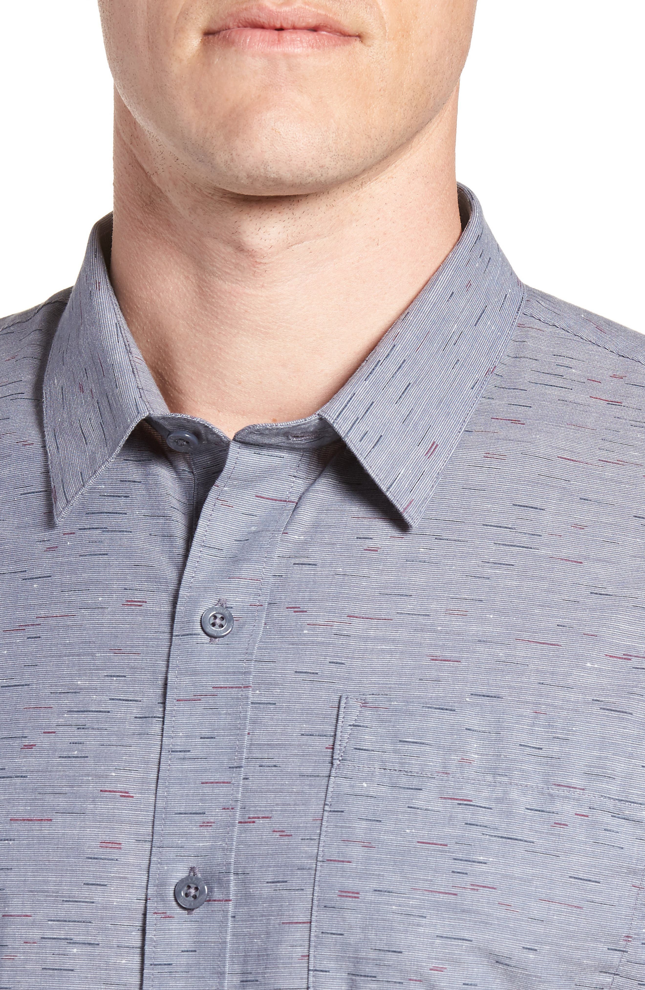 Stacoto Regular Fit Sport Shirt,                             Alternate thumbnail 2, color,                             Heather Alloy