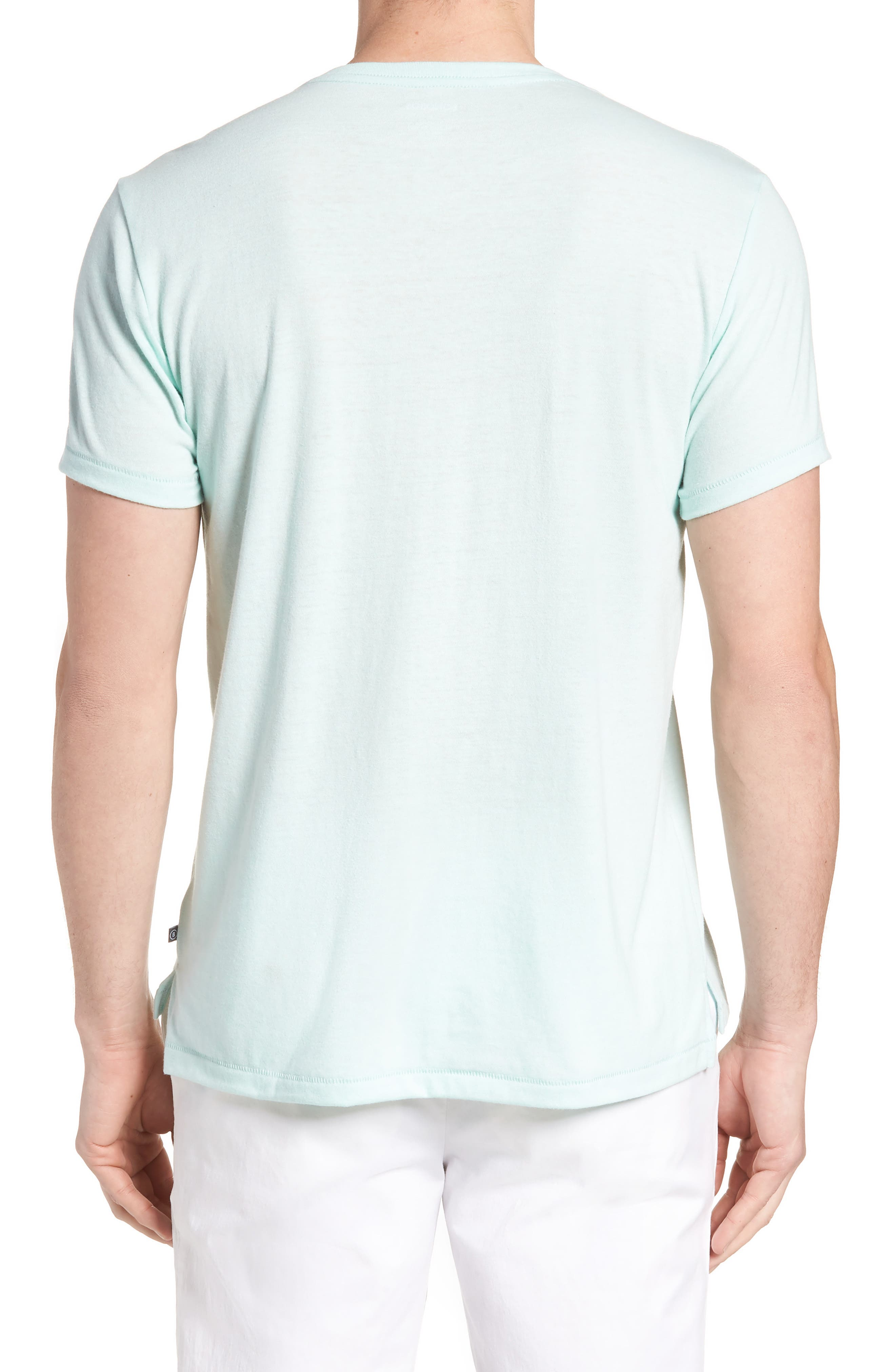 LA Slim Fit Heathered T-Shirt,                             Alternate thumbnail 2, color,                             Heather Mint