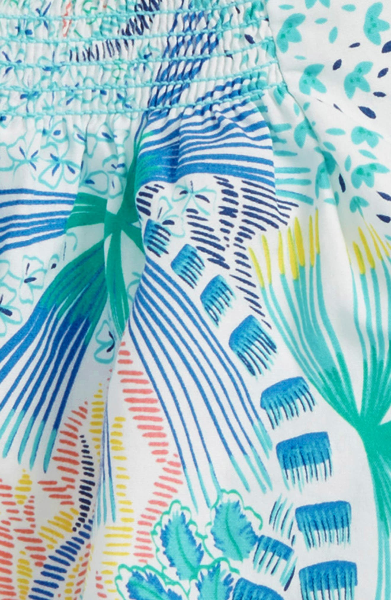 Tropical Floral Top & Shorts Set,                             Alternate thumbnail 2, color,                             Tropical Palms