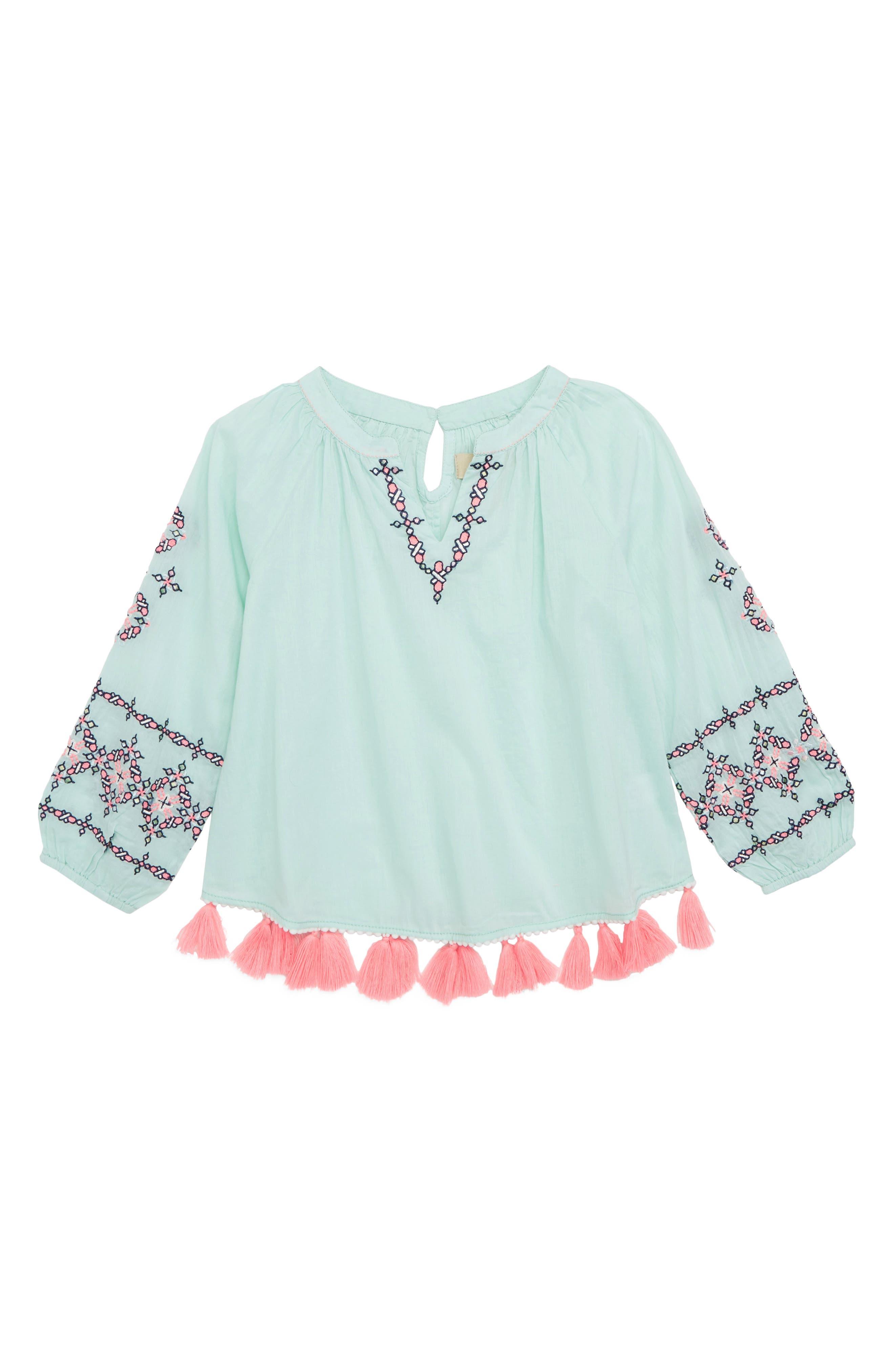 Peek Naomi Embroidered Top (Toddler Girls, Little Girls & Big Girls)
