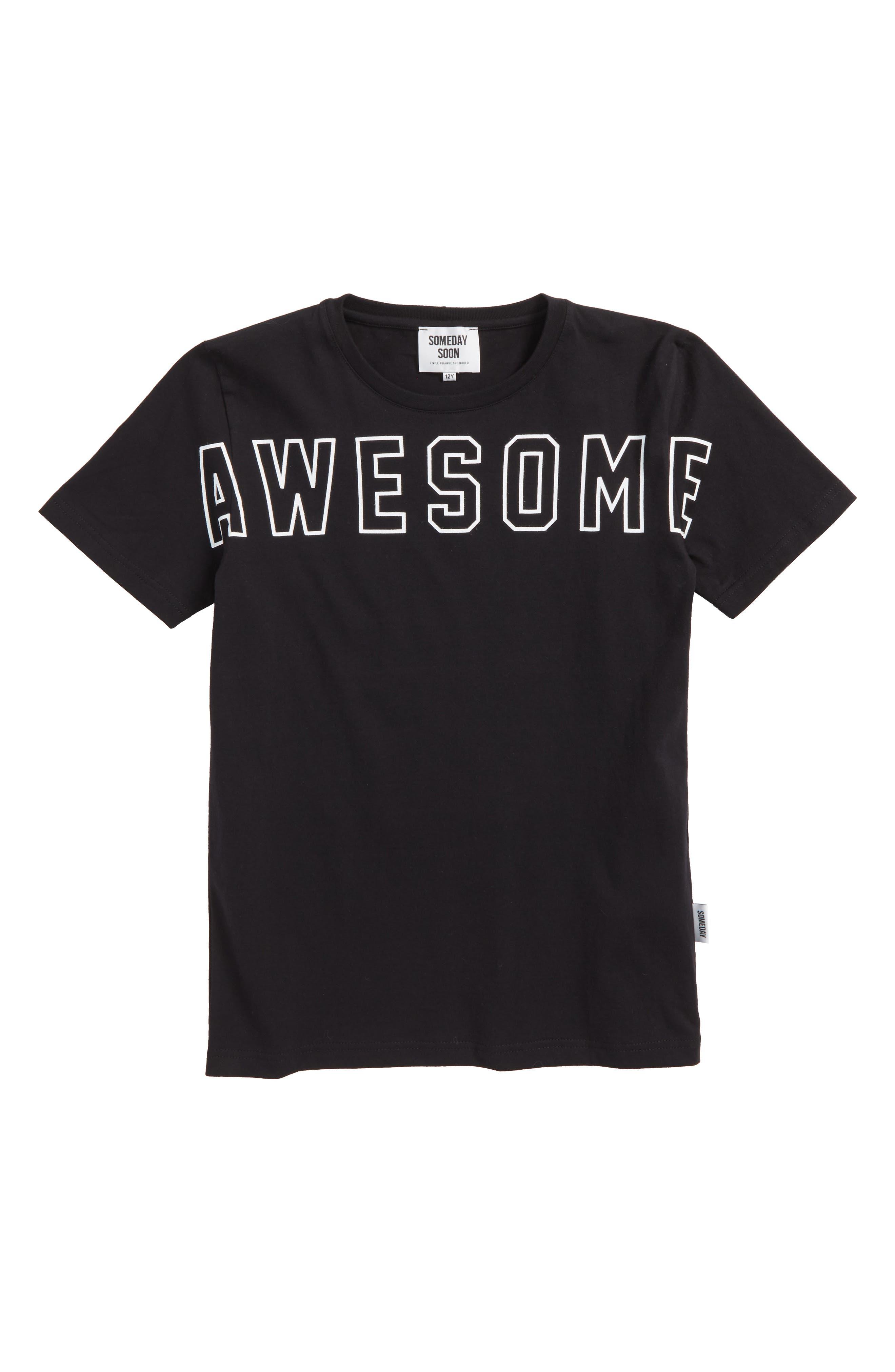 Dixon Awesome Organic Cotton T-Shirt,                             Main thumbnail 1, color,                             Black