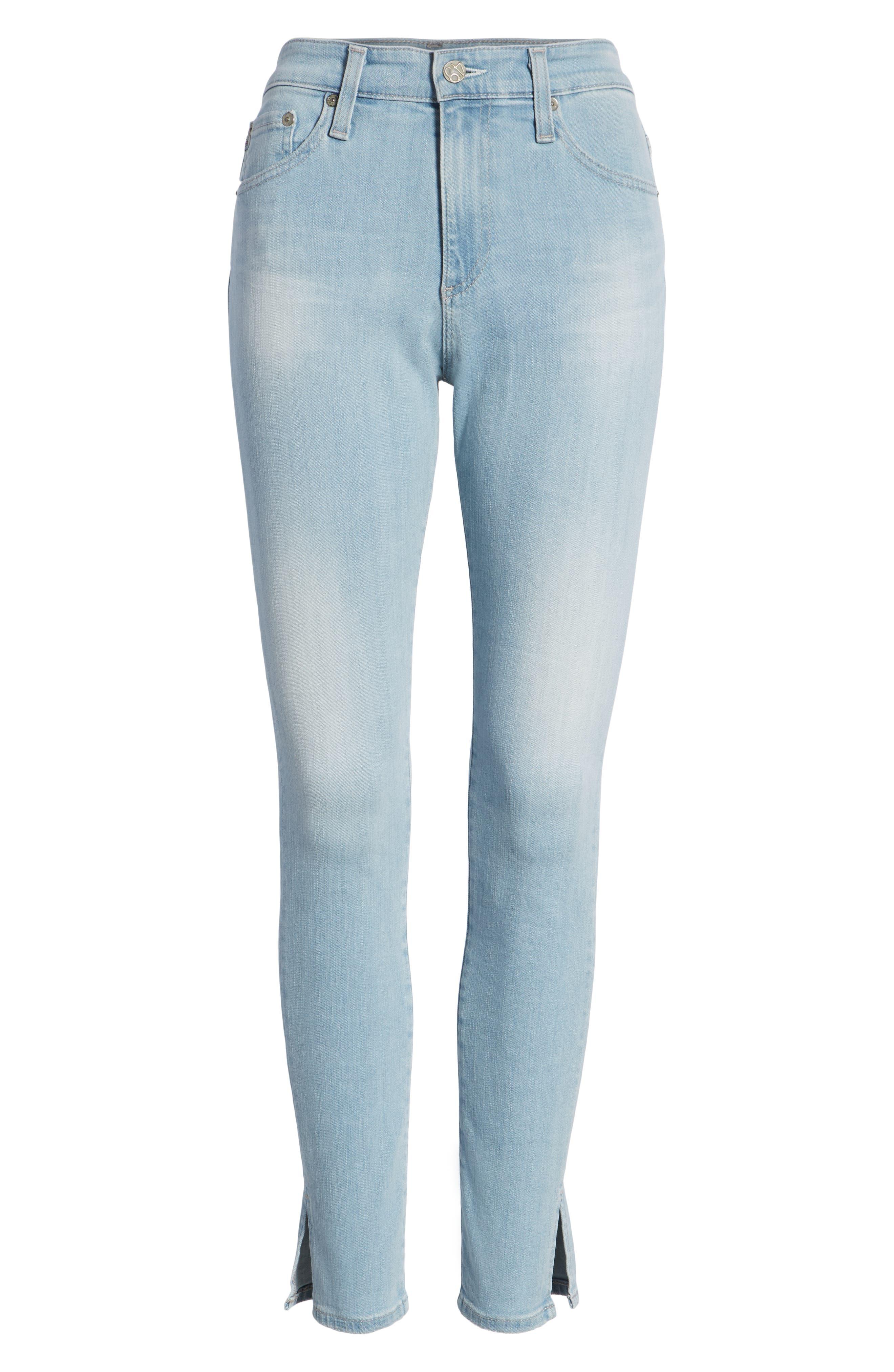 Farrah High Waist Ankle Skinny Jeans,                             Alternate thumbnail 7, color,                             20 Years Sutro