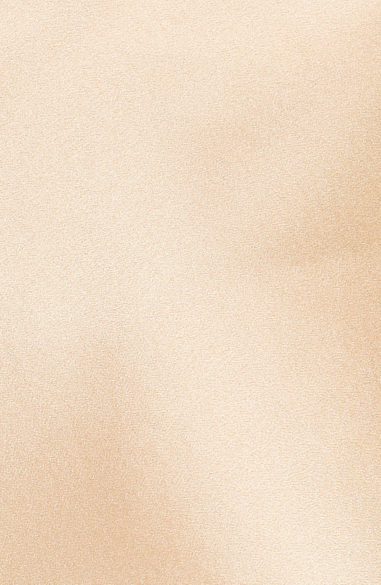 Raw Edge Bias Silk Skirt,                             Alternate thumbnail 5, color,                             Ginseng