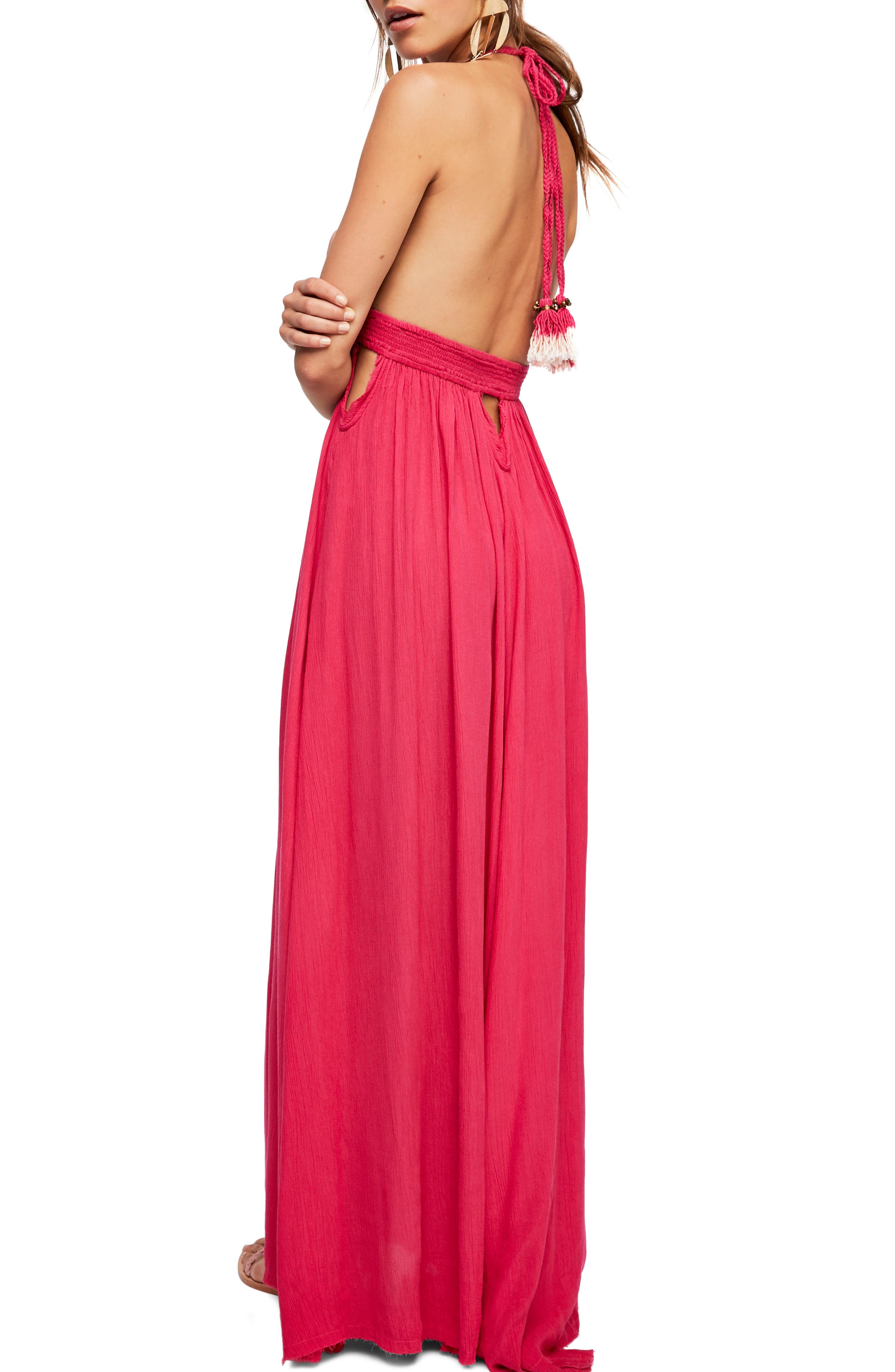 Endless Summer by Free People Look into the Sun Maxi Dress,                             Alternate thumbnail 2, color,                             Dark Pink