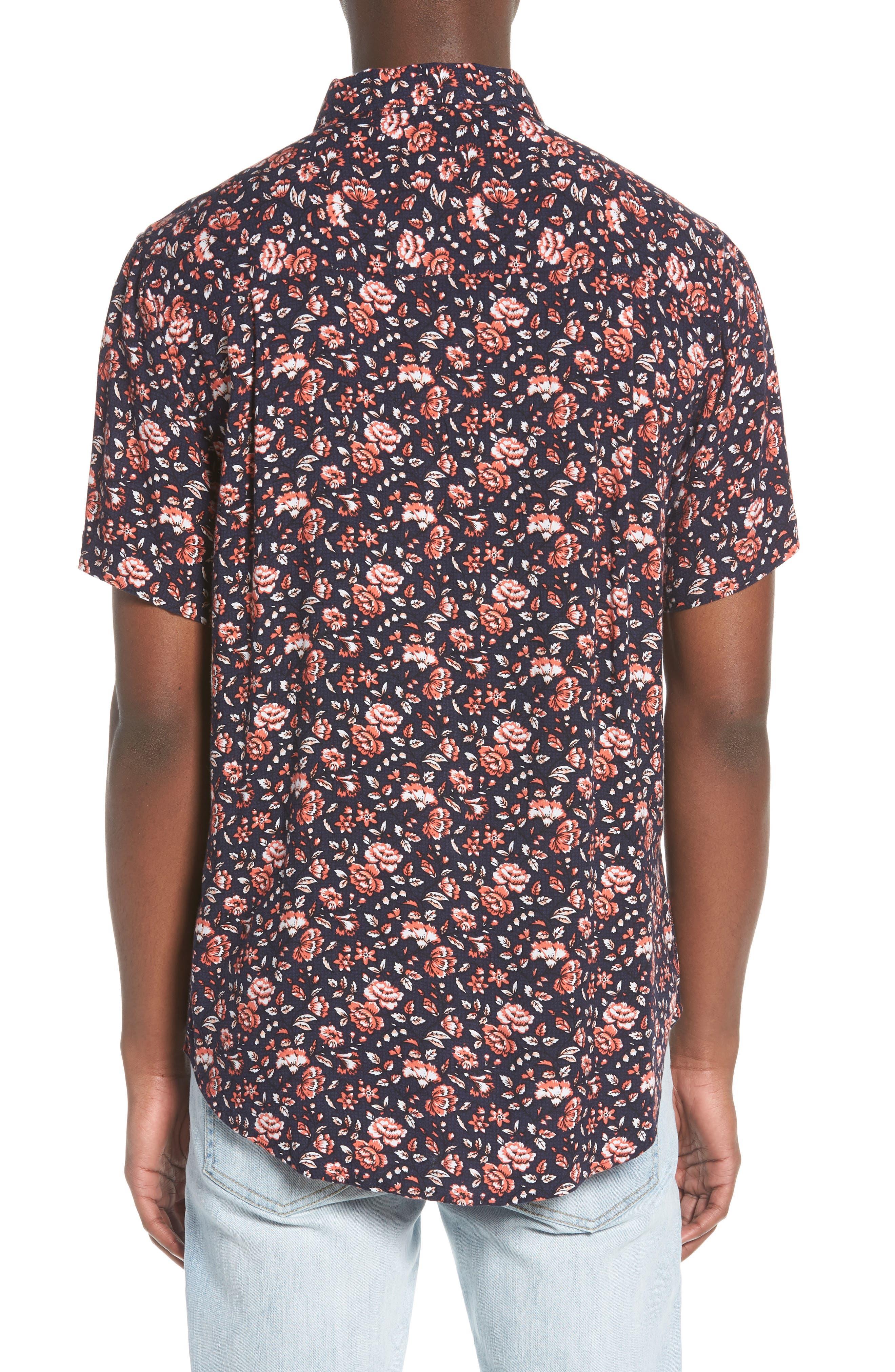 Synth Woven Shirt,                             Alternate thumbnail 3, color,                             Navy