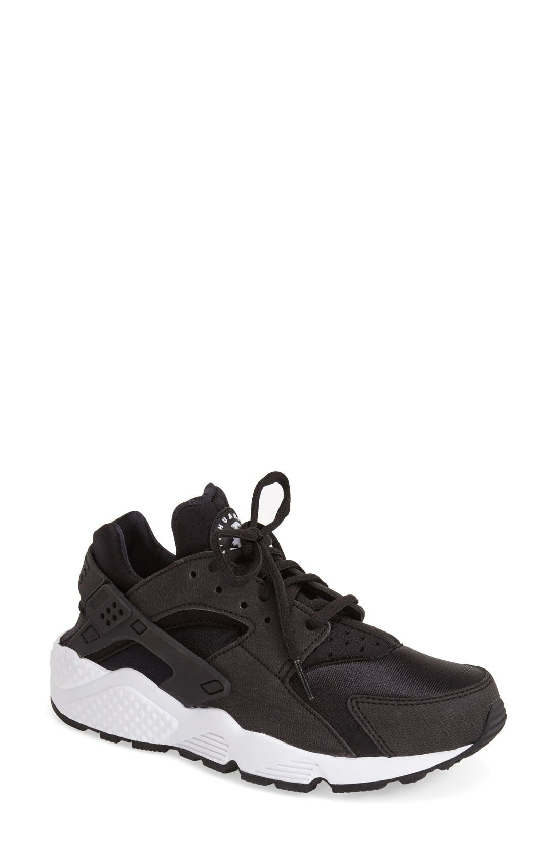 'Air Huarache' Sneaker,                             Main thumbnail 1, color,                             Black/ White