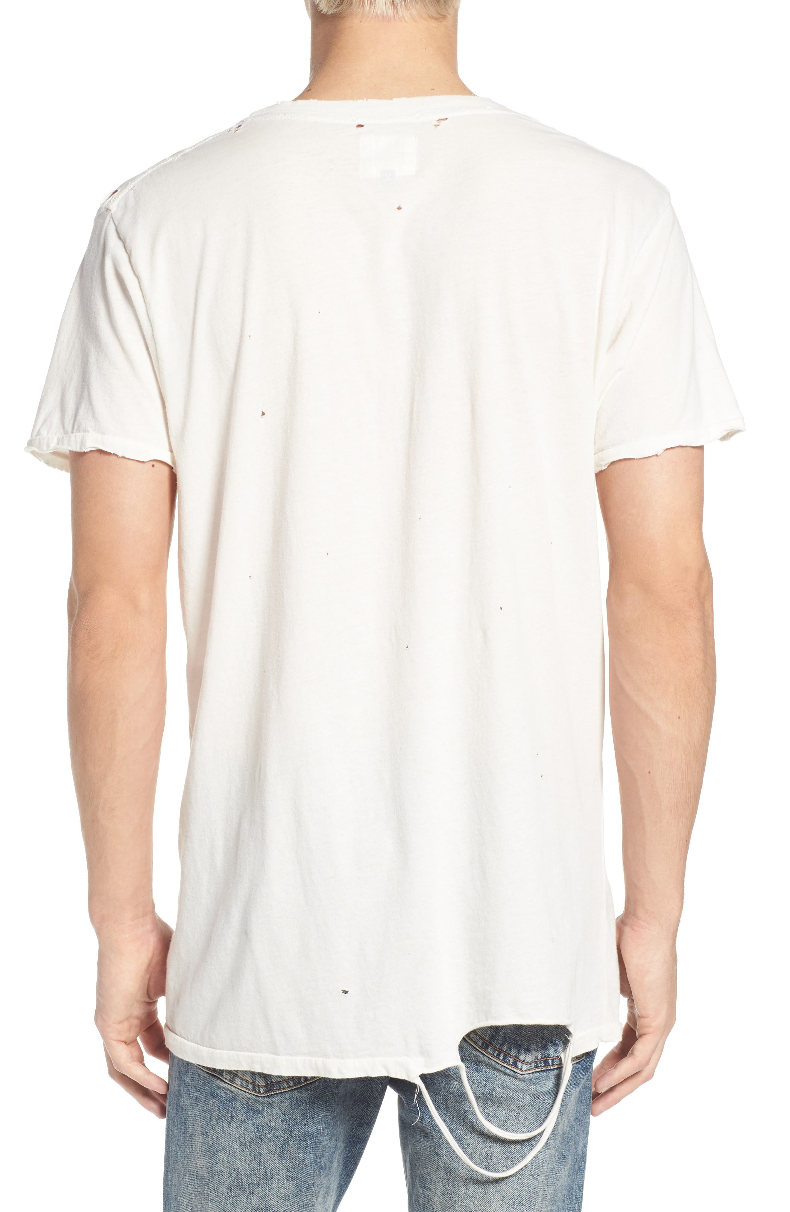 American Dreams Distressed Graphic T-Shirt,                             Alternate thumbnail 2, color,                             White