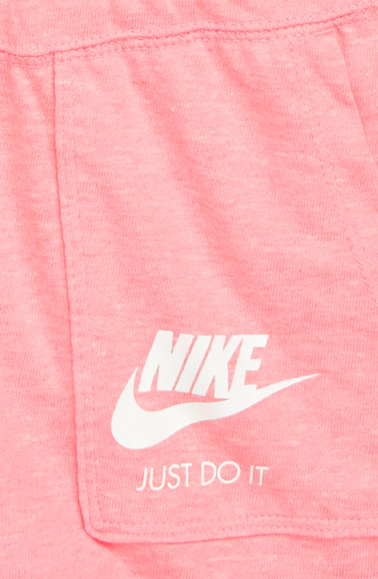 Racerback Knit Romper,                             Alternate thumbnail 2, color,                             Pink