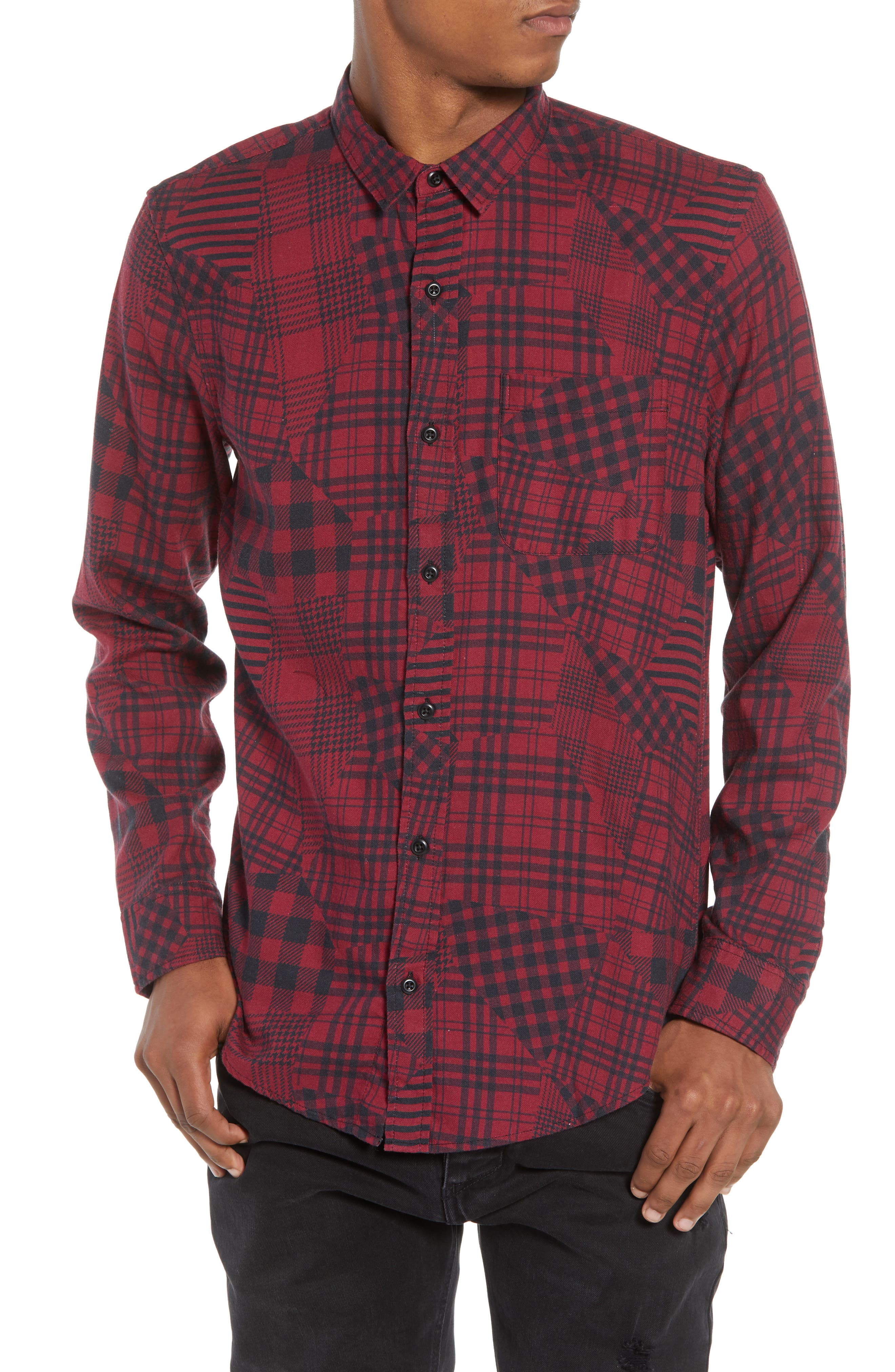 The Rail Mixed Plaid Woven Shirt Fashionable The Cheapest Sale Online Outlet Original Buy Cheap Countdown Package Free Shipping Cheapest Price 3YvNhEJ7