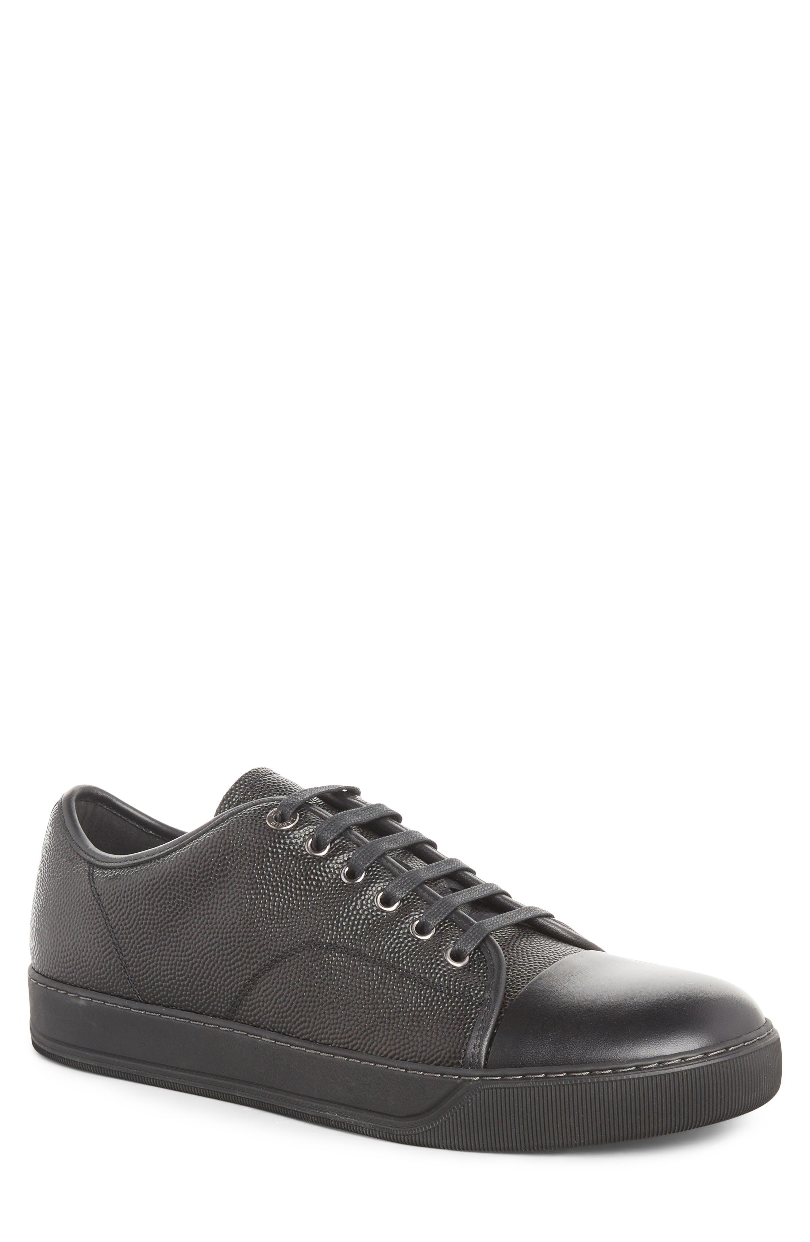 Lanvin Pebbled Cap Toe Sneaker (Men)