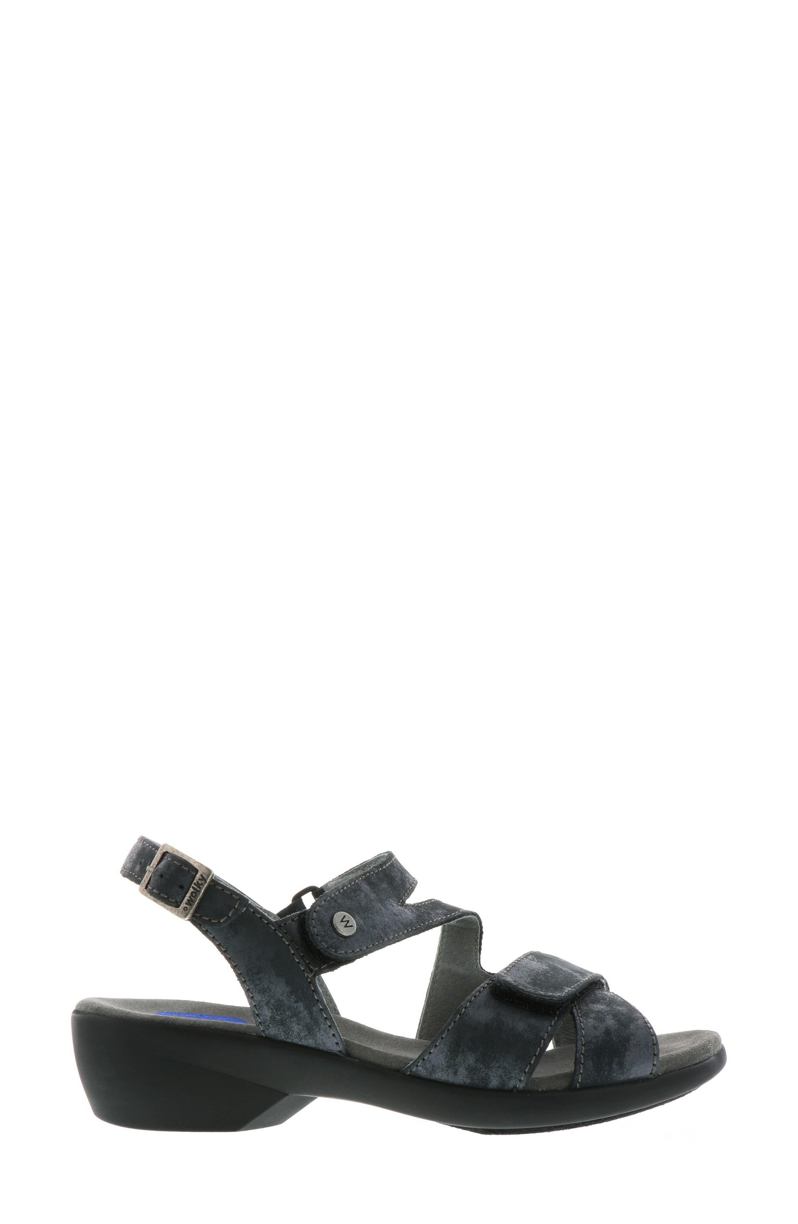 Fria Sandal,                             Alternate thumbnail 3, color,                             Black Nubuck