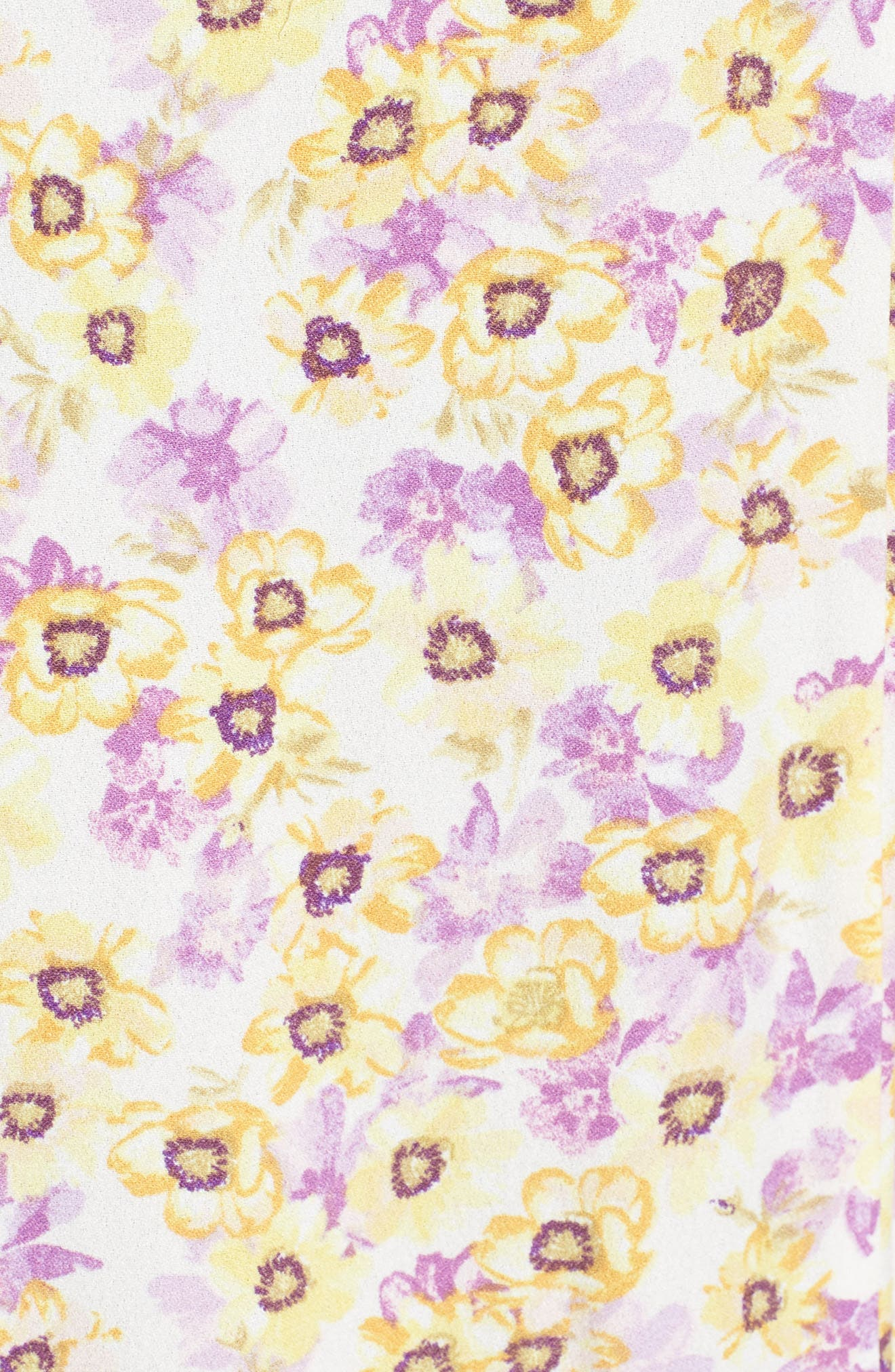 Tuscany Maxi Dress,                             Alternate thumbnail 6, color,                             Yellow Garden