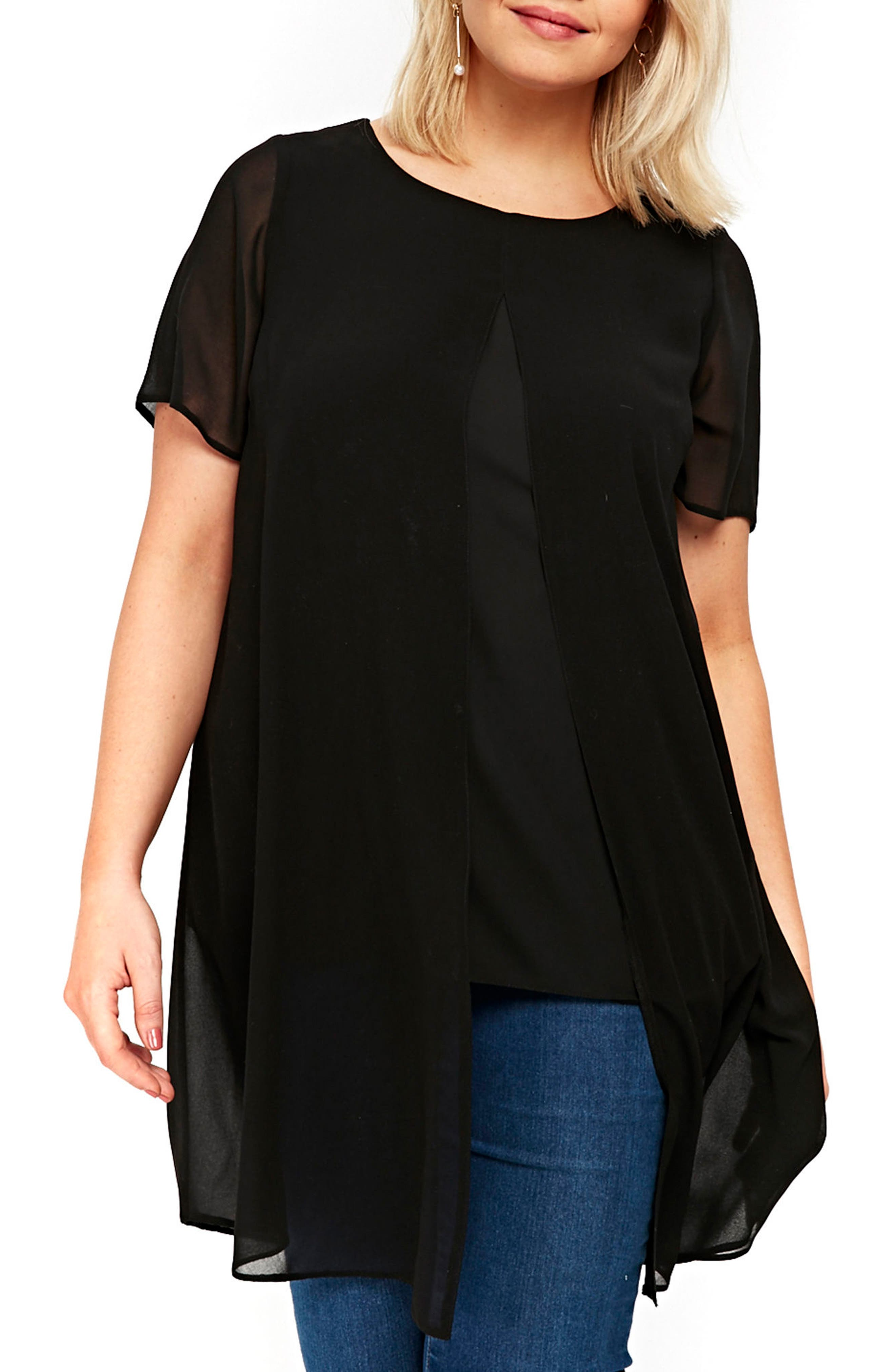 Evans Split Front Top (Plus Size)