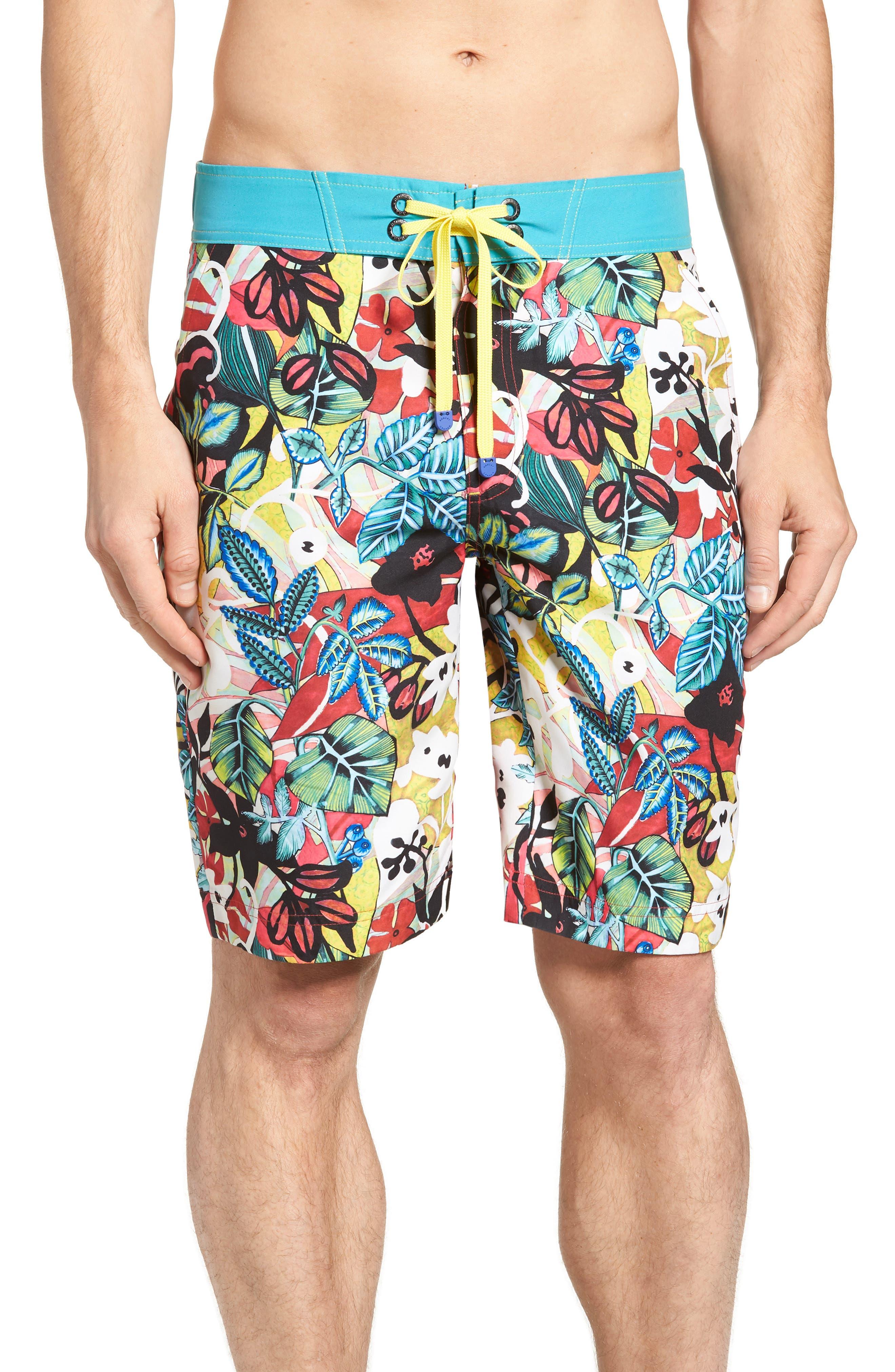 Barbarito Classic Fit Board Shorts,                         Main,                         color, Multi