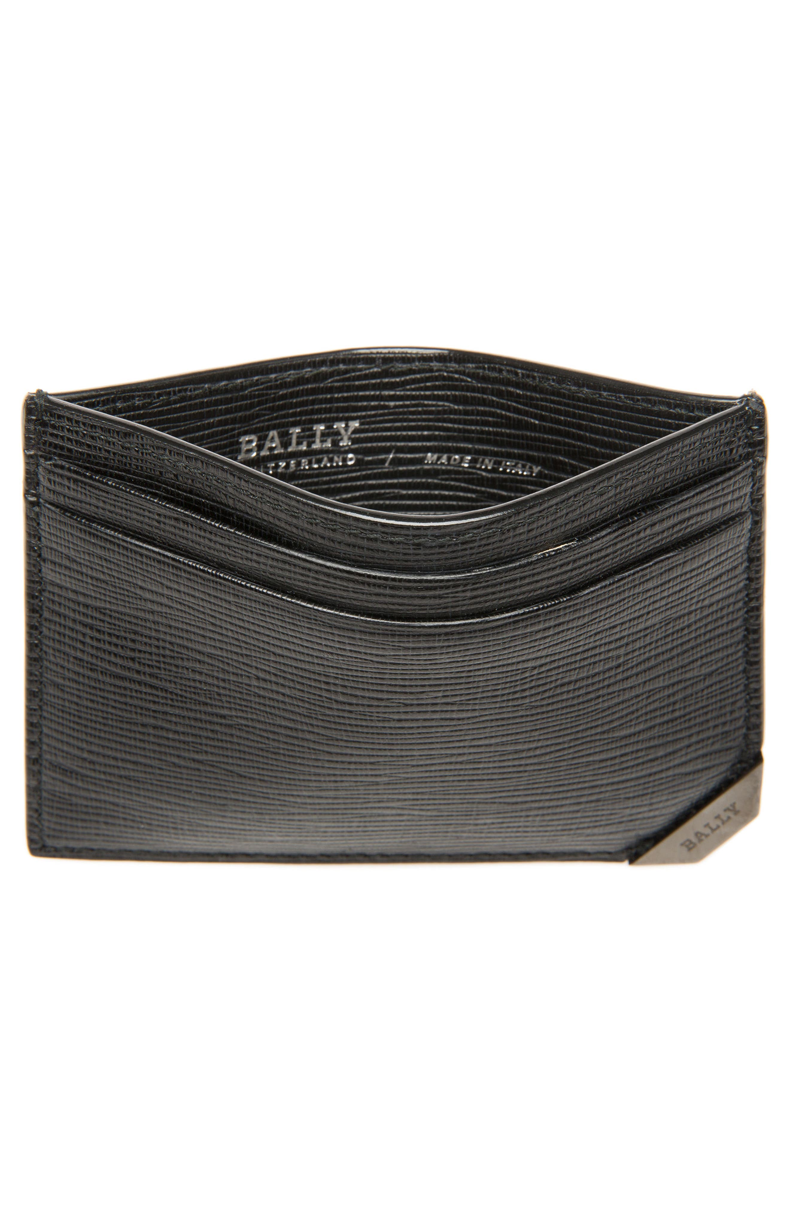 Bhar Leather Card Holder,                             Alternate thumbnail 2, color,                             Black