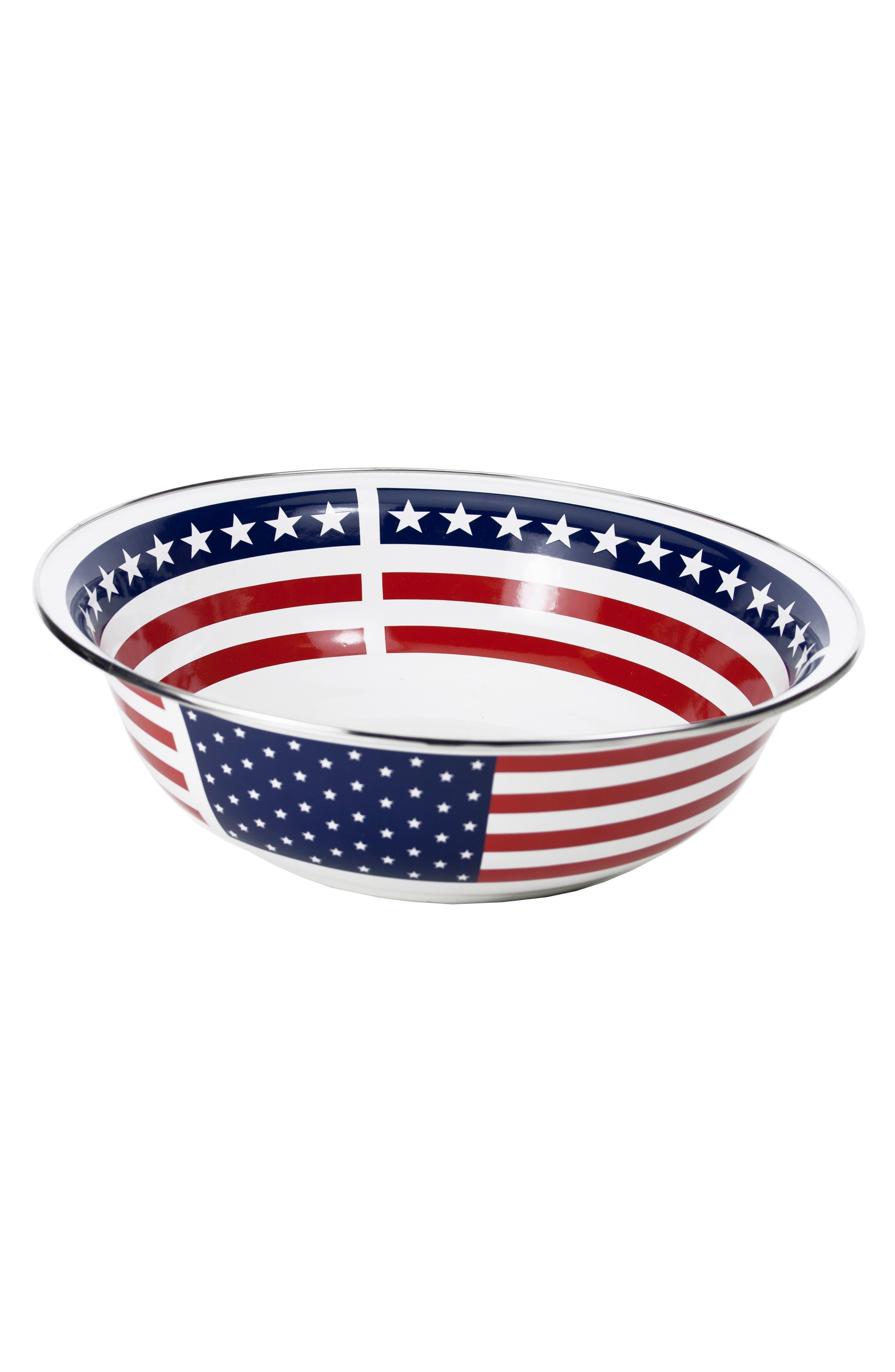 Stars & Stripes Serving Bowl,                             Main thumbnail 1, color,                             Stars And Stripes