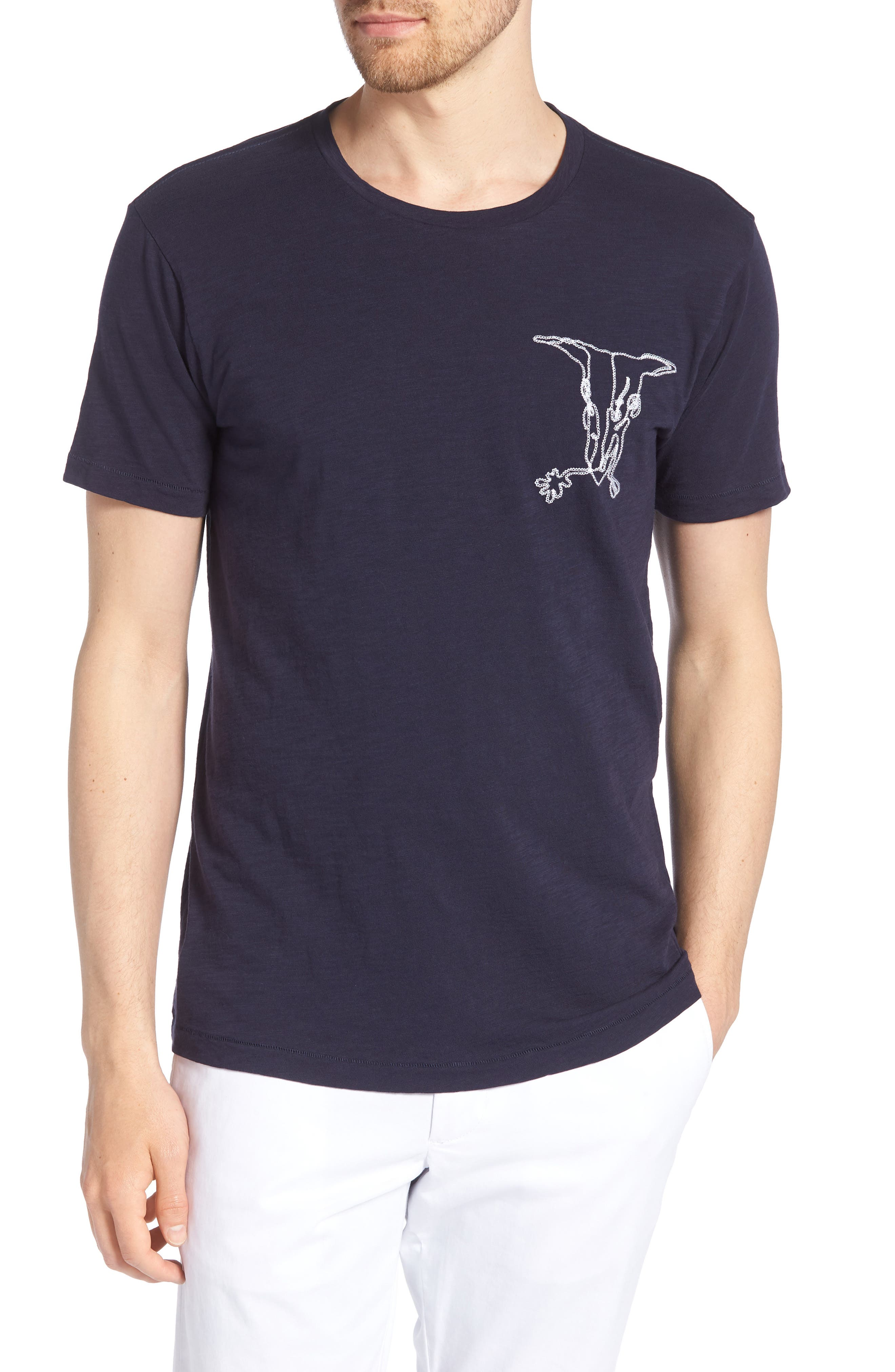 Desert Skull Slim Fit T-Shirt,                         Main,                         color, White