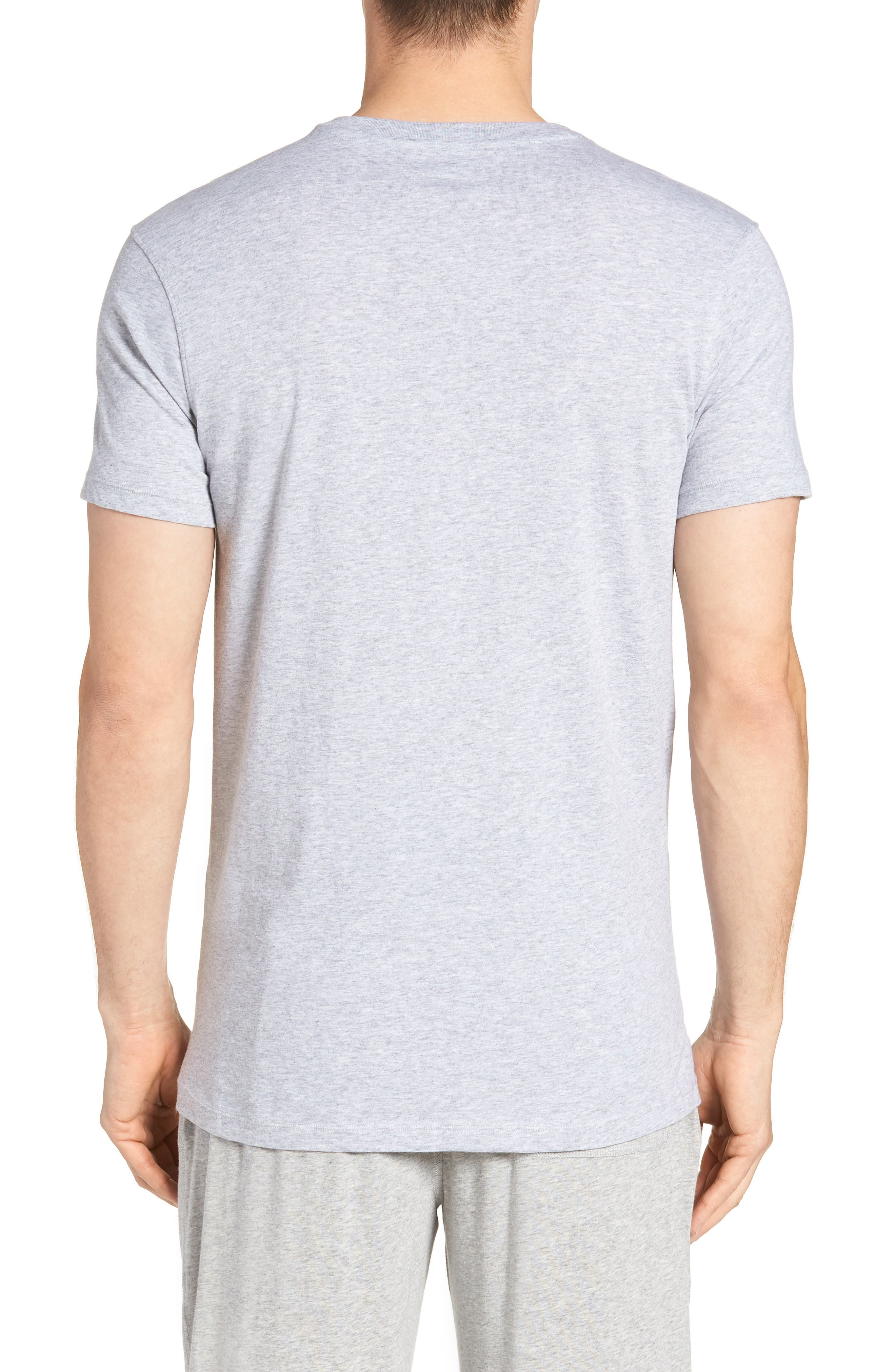 Assorted 3-Pack Supima<sup>®</sup> Cotton V-Neck T-Shirts,                             Alternate thumbnail 3, color,                             Black/ Grey/ White