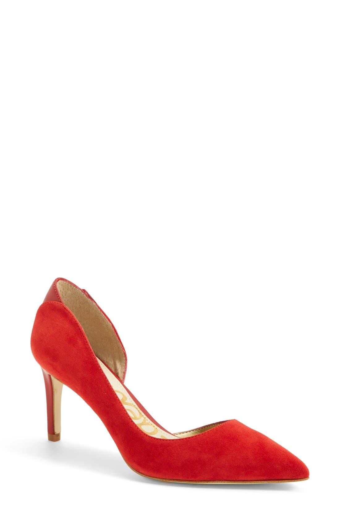 Alternate Image 1 Selected - Sam Edelman 'Onyx' Half d'Orsay Pointy Toe Pump (Women)